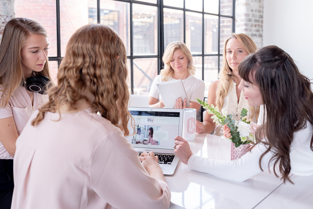 group of women have a meeting