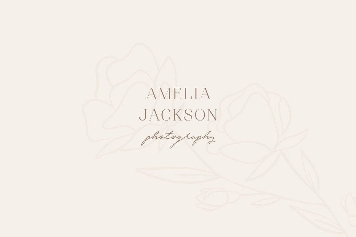 Amelia Jackson Floral Pre-Made Brand for Creatives