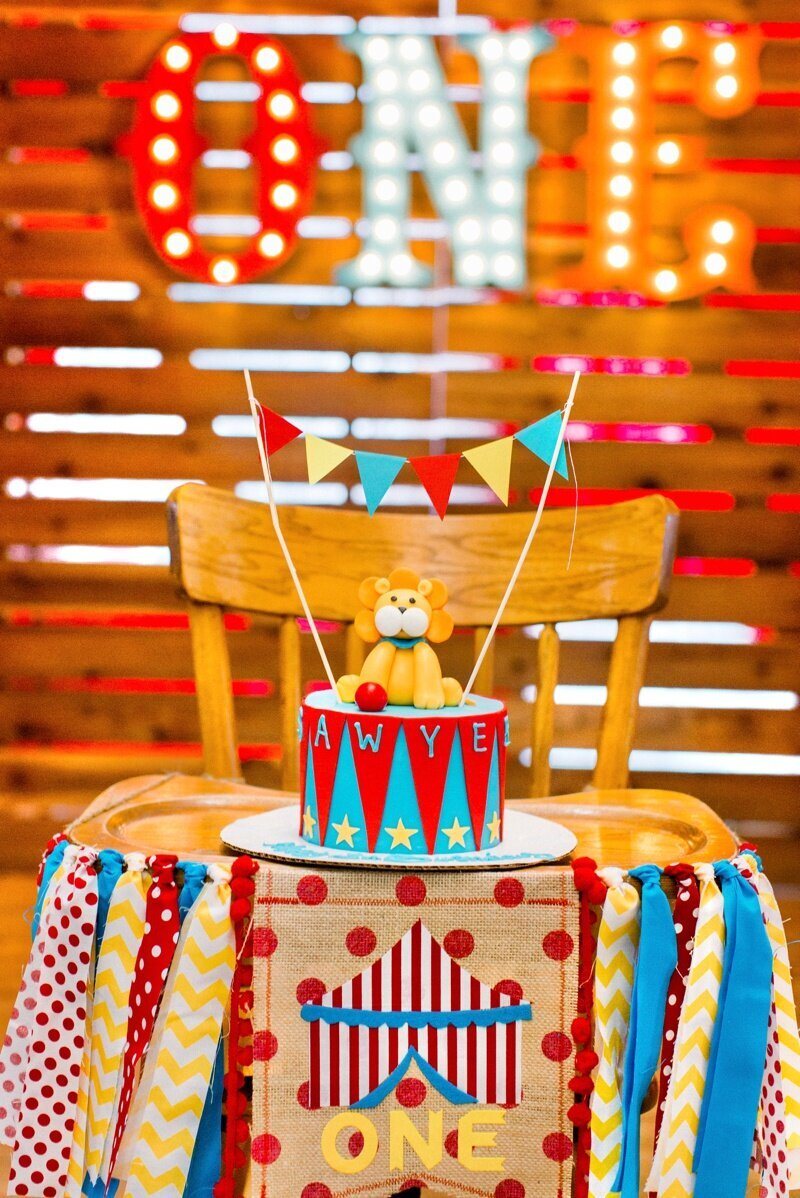 Circus Themed 1st Birthday Indianapolis Party Planner_0129
