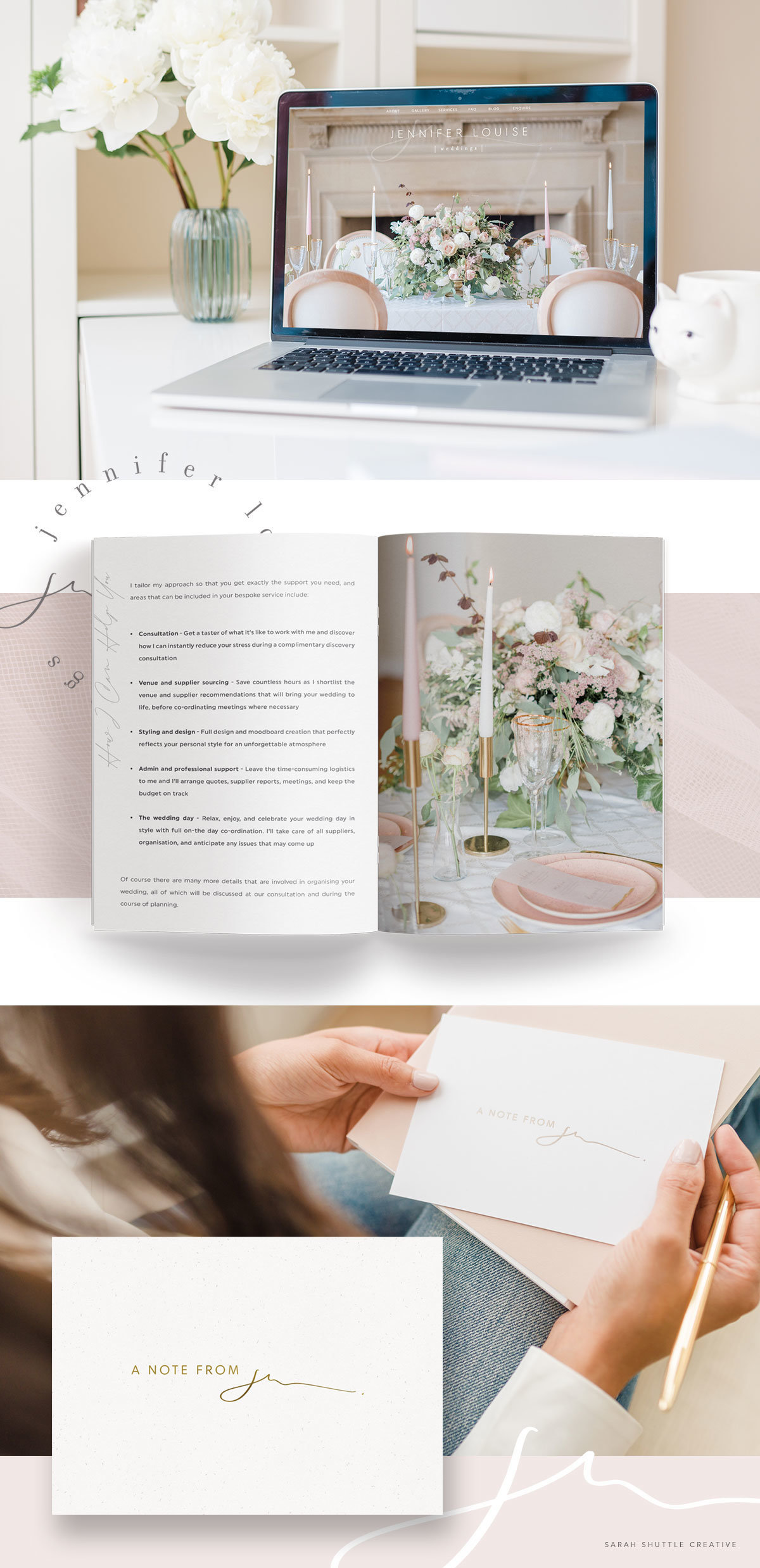 Luxury branding for wedding planner with custom website design