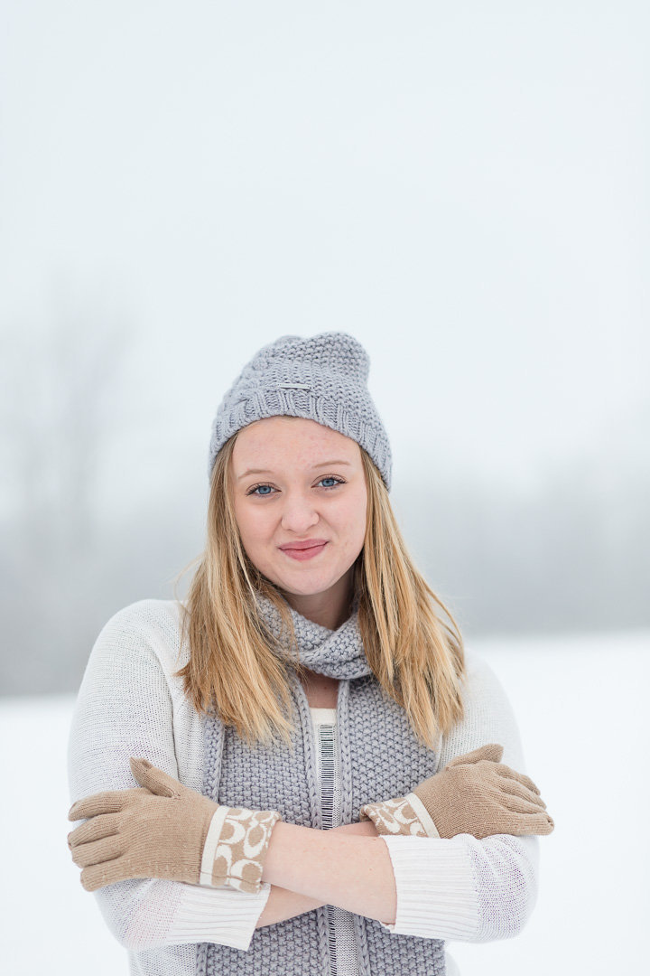 Senior Session in the snow