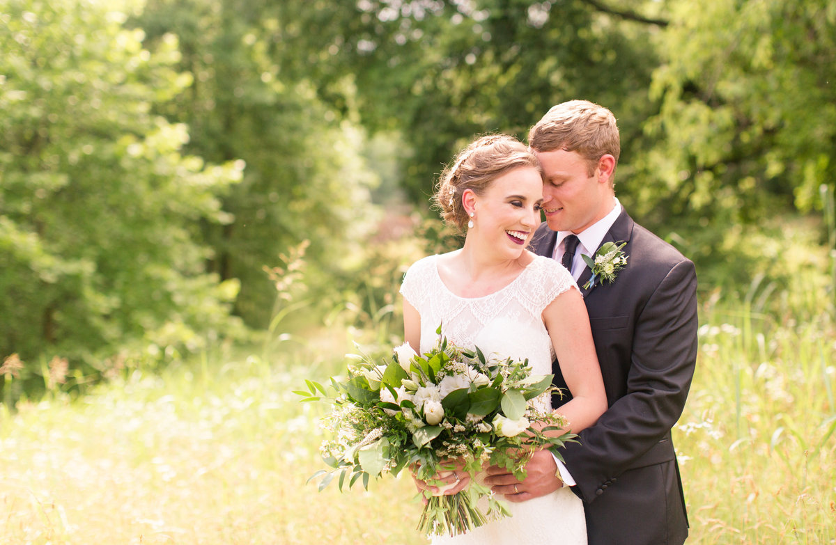 Virginia wedding bride and groom by Marie Hamilton Photography