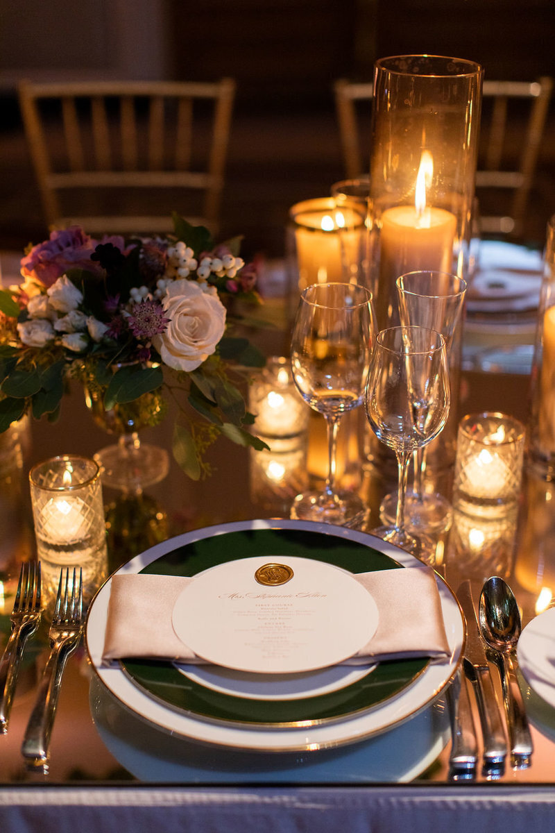 table-setting-four-seasons-gold-floral-dc-rental-candles-patricia-lyons
