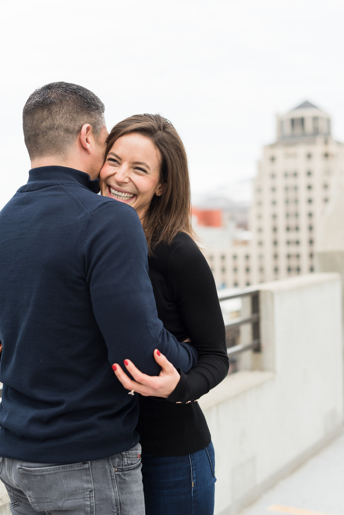 A Winter Downtown Boise Rooftop Engagement Shoot 002
