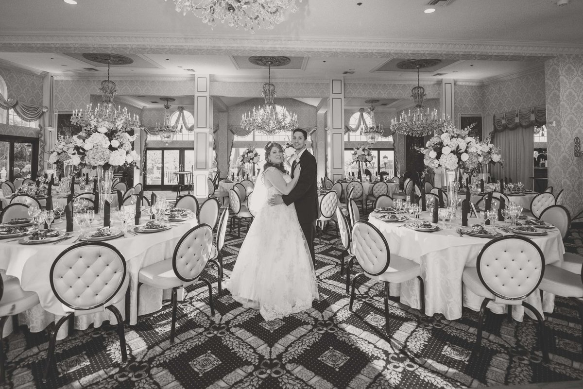 Room shot with bride and groom at Giorgio's Catering