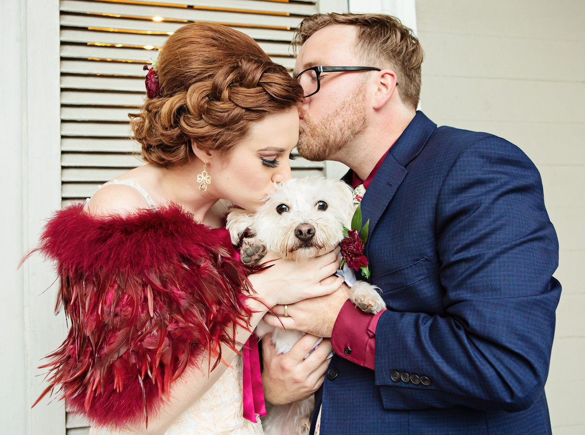 bride-groom-with-dog