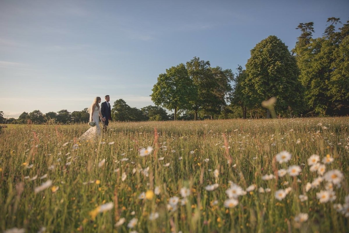 Bride and Groom at Rockbeare Manor in Exeter Devon