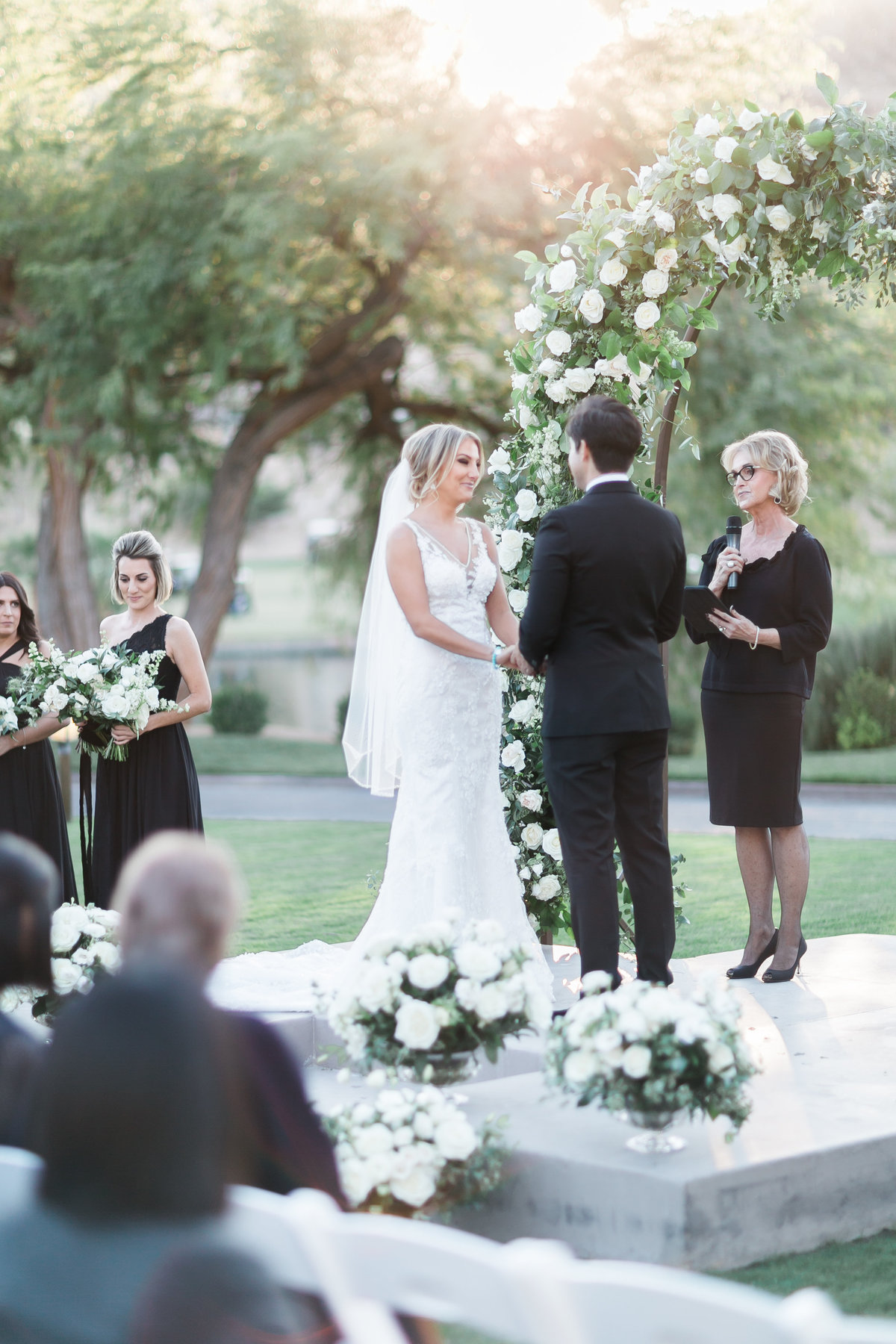 bride and groom ceremony photo at Red Rock Country Club Las Vegas