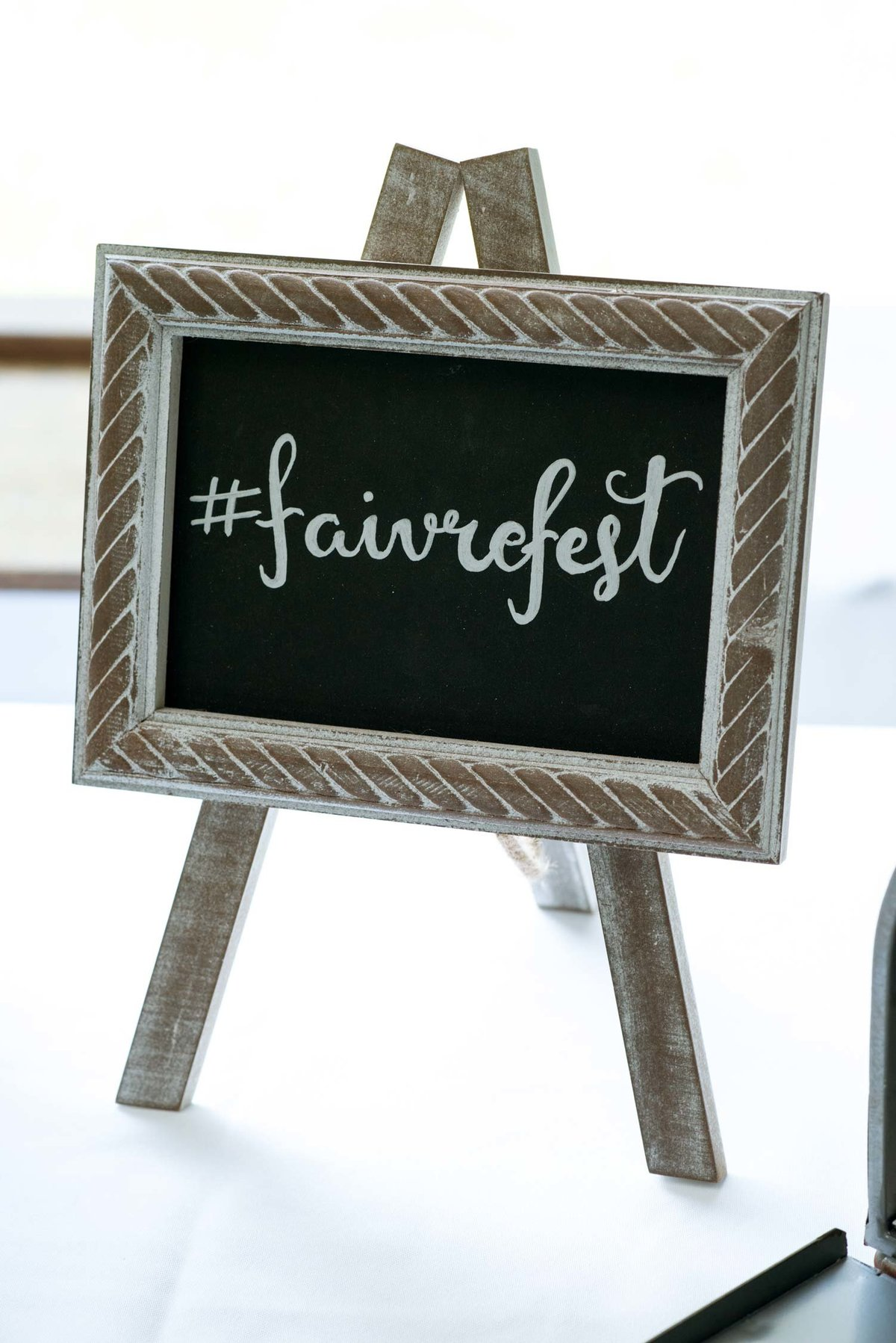 Wedding decoration sign at Flowerfield