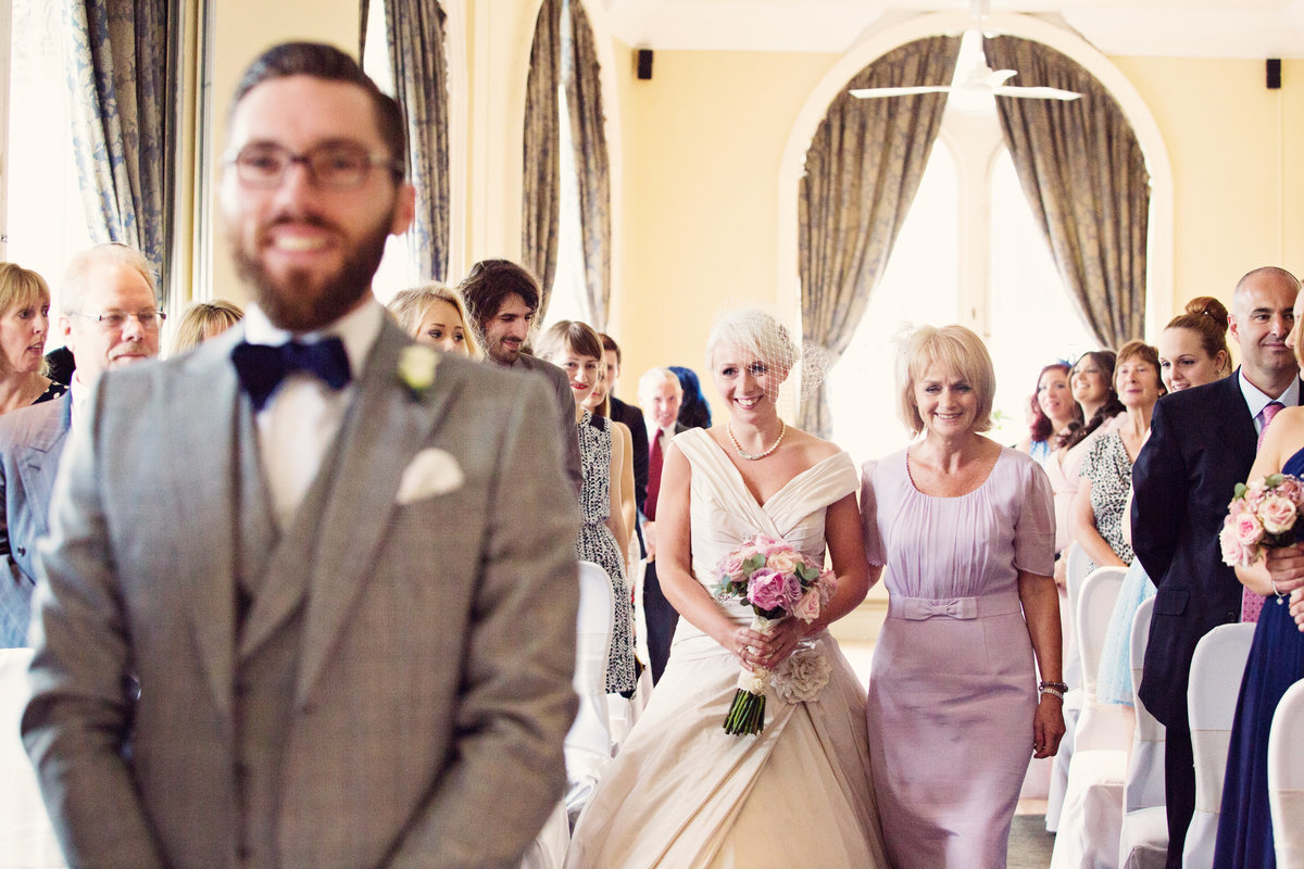 Walking down the isle with Mum