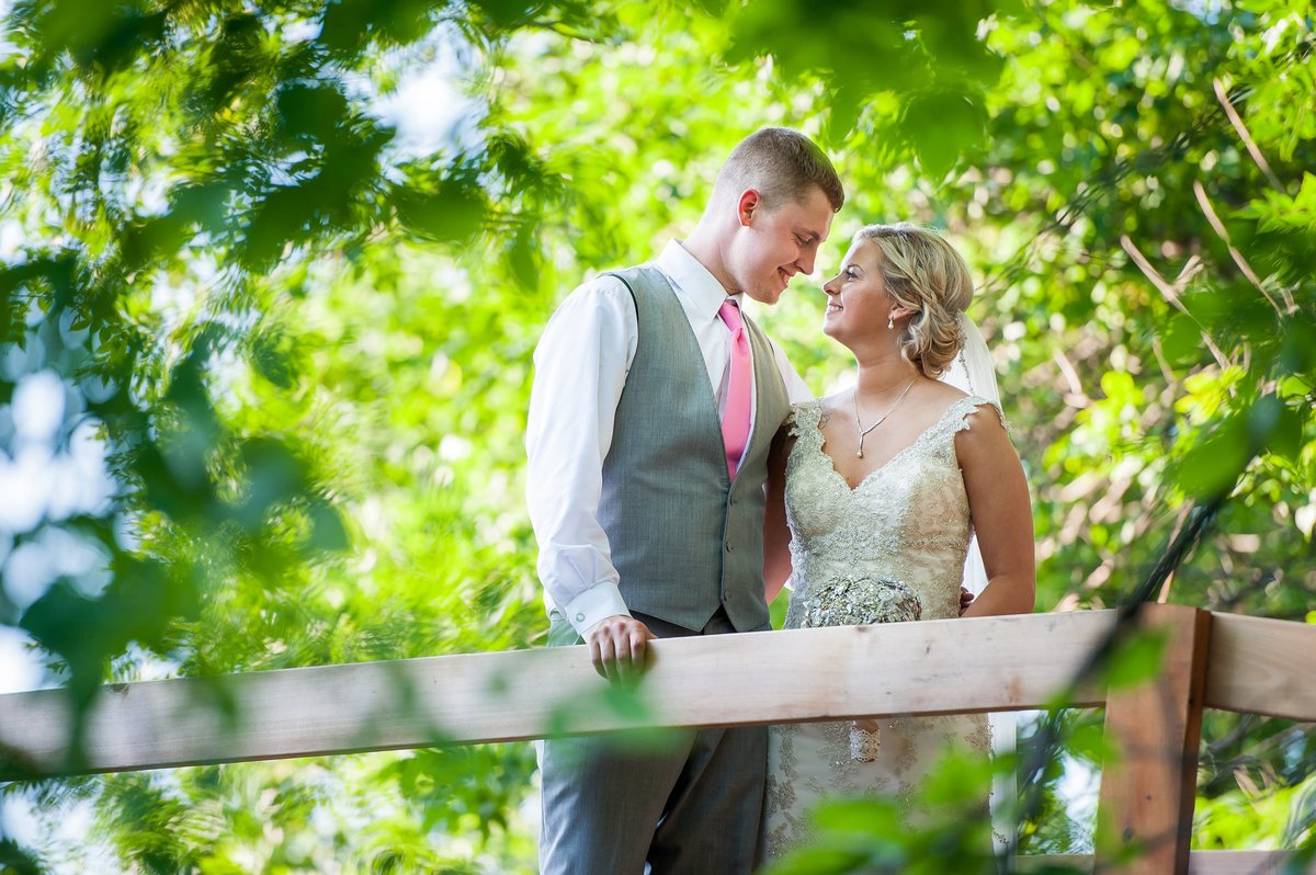 Romantic moon wedding venue bridge for wedding portraits, photos by kris kandel