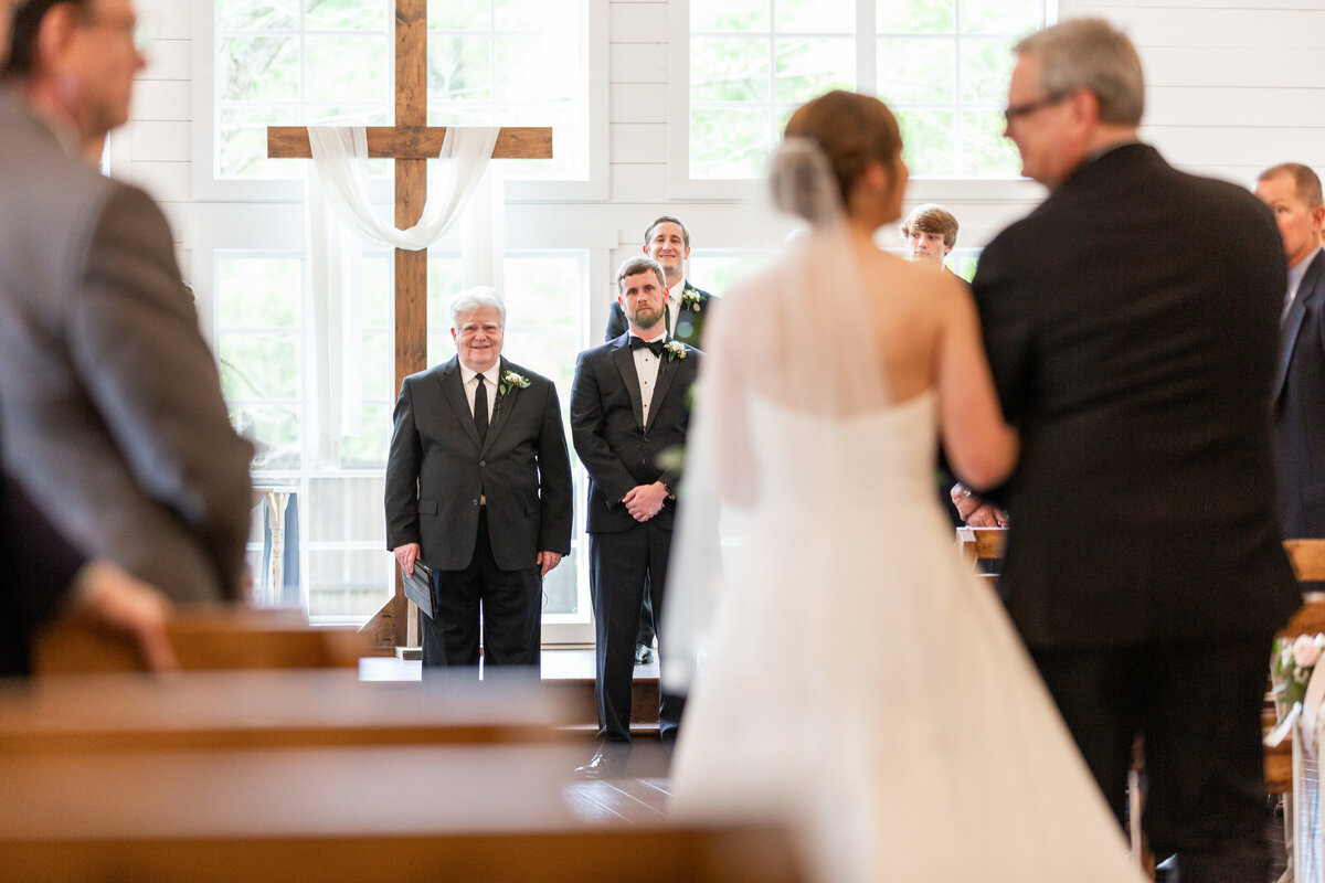 Emotional Groom Sees His Bride Walking Down the Aisle