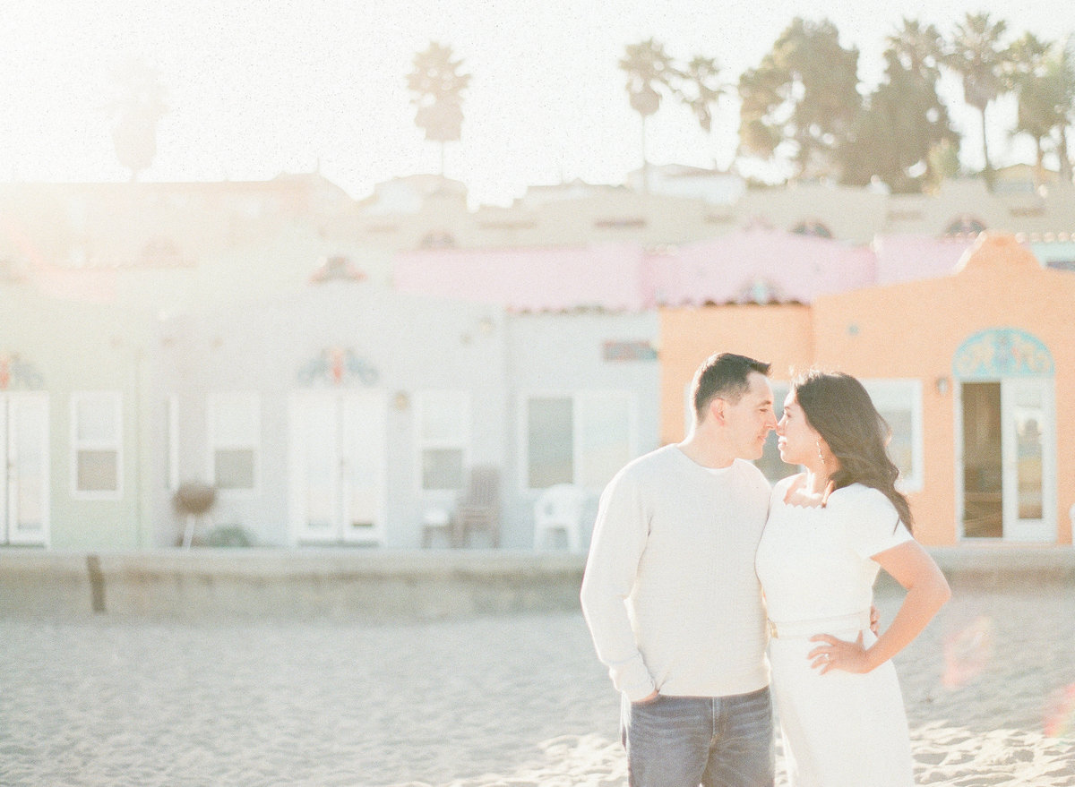 California Beach Engagement Film Photography