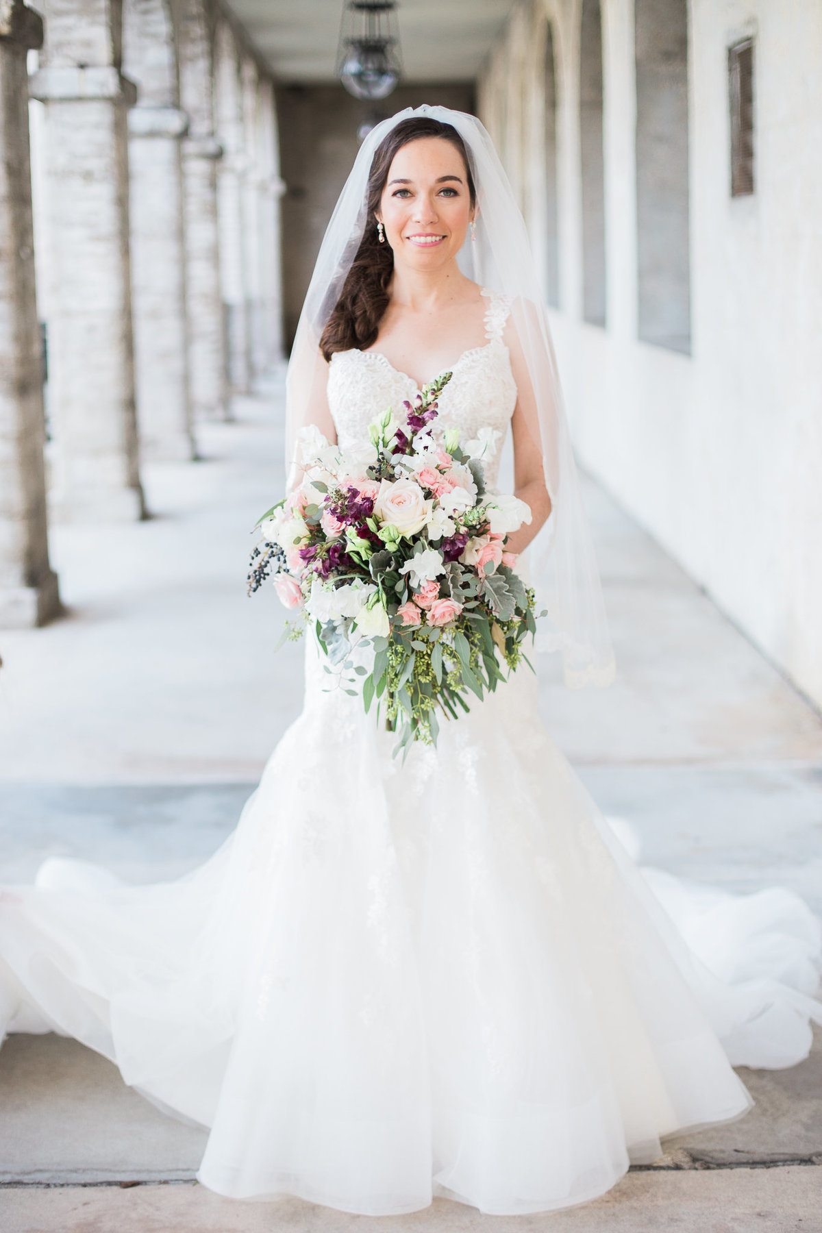 Bride portrait at Lightner Museum in St Augustine