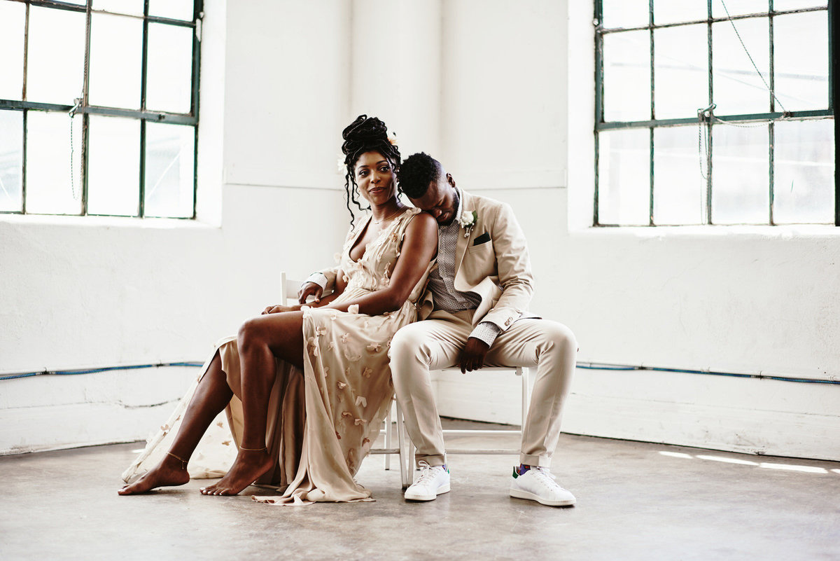 intimate wedding at the houston studio