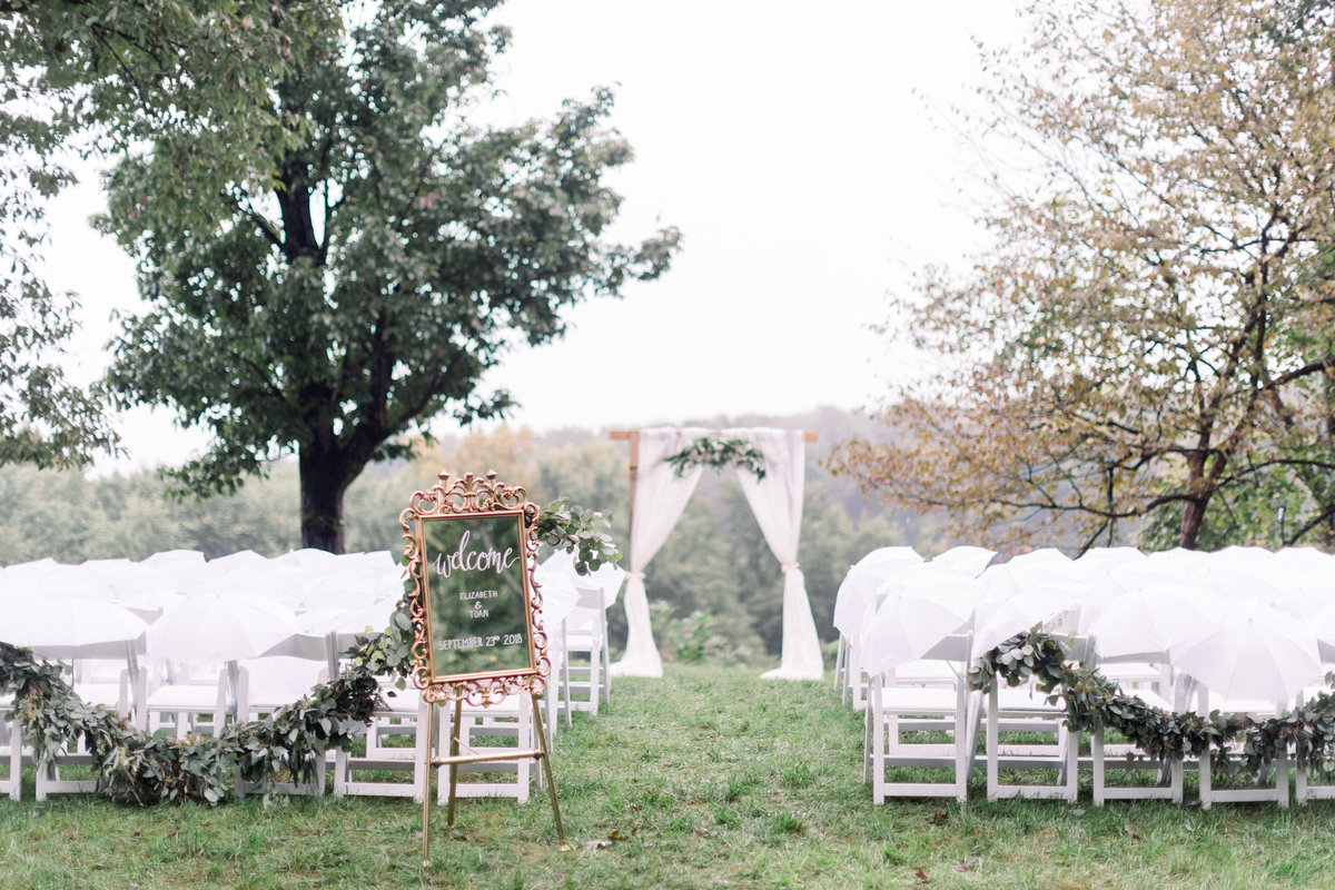 Wedding coordinated by Columbus based event planner