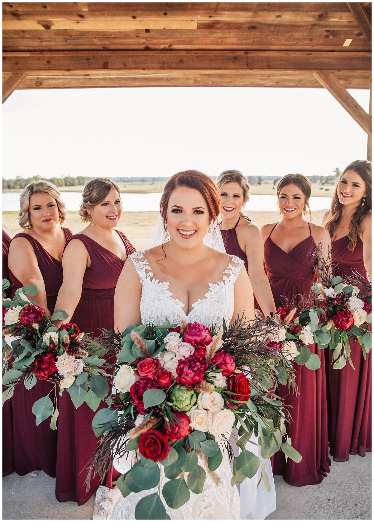 Rustic Burgundy and Blush Indoor Outdoor Wedding at Emery's Buffalo Creek - Houston Wedding Venue_0675