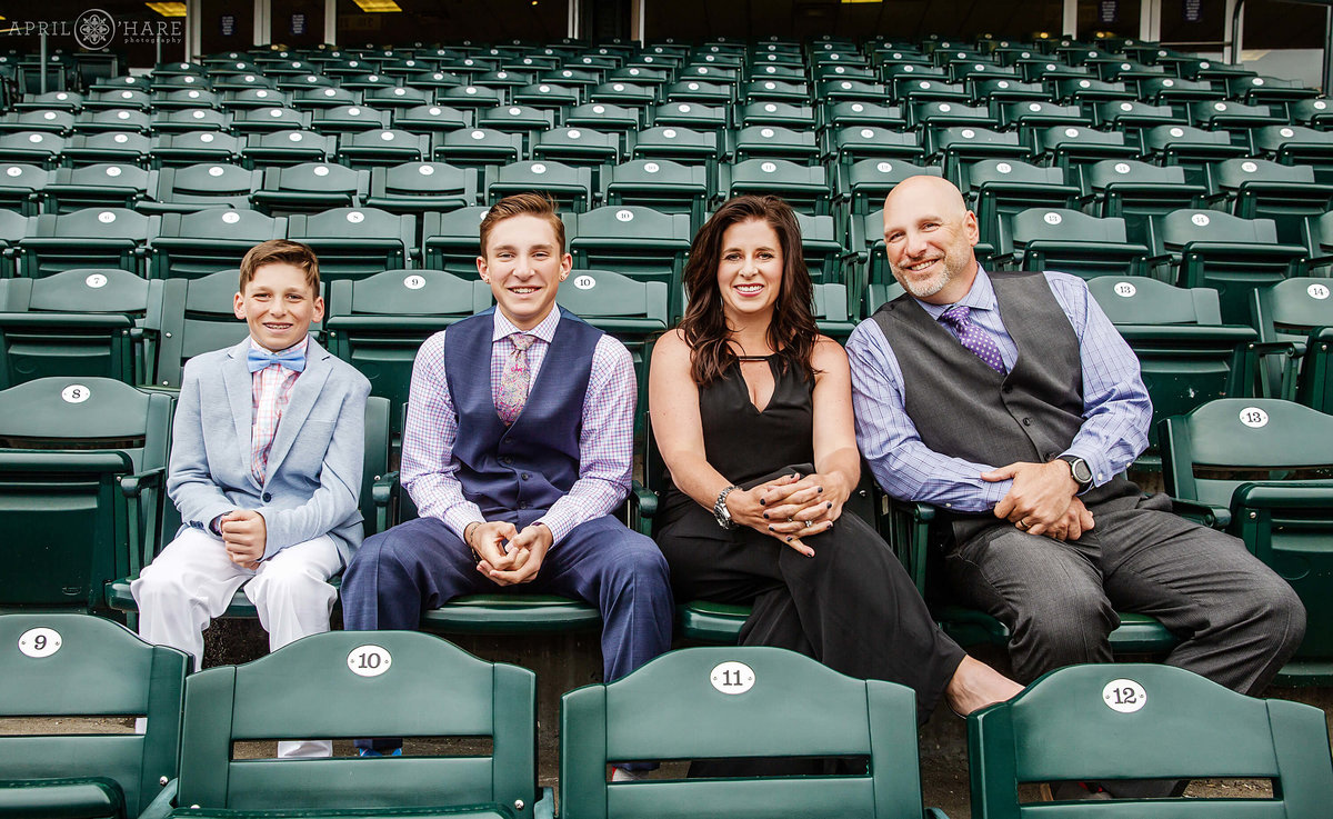 Denver Family Photos at a Bar Mitzvah at Coors Field in Denver Colorado