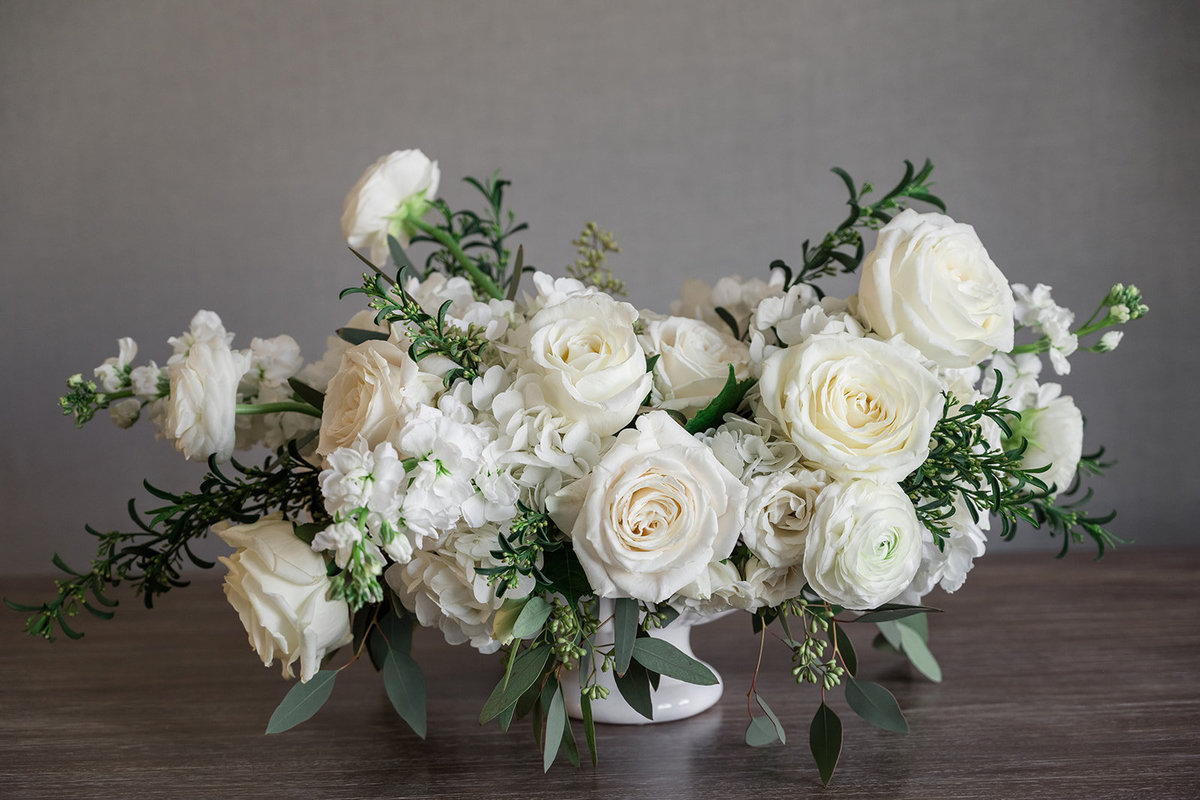 Classic White Large Centerpiece