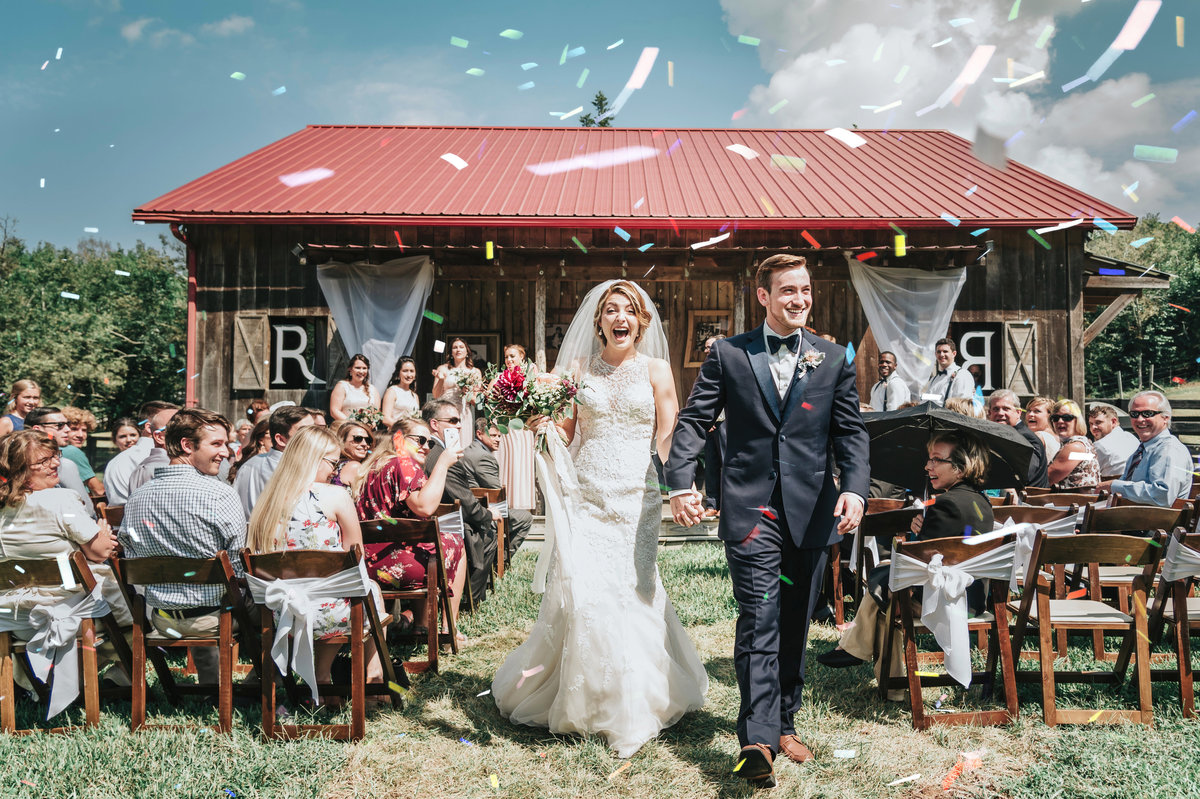 Confetti Exit at Nashville Wedding