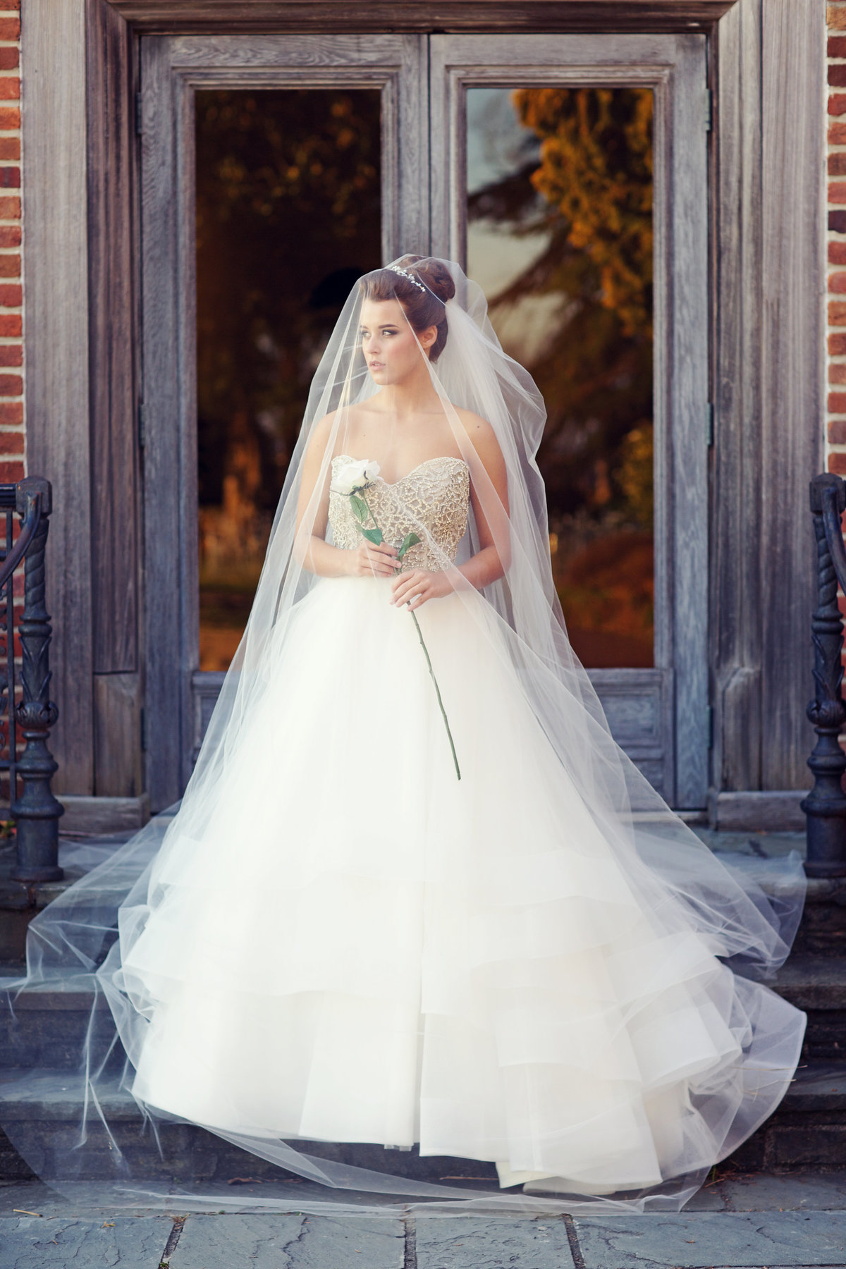hermitage museum and gardens bridal portrait