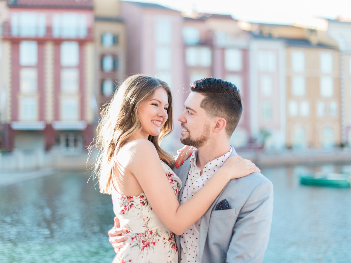 Portifino Hotel Orlando Engagement photos stylish couple