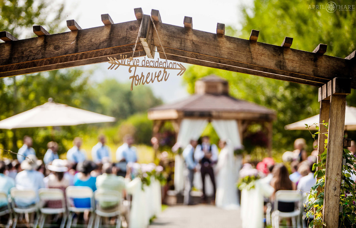 Denver Botanic Gardens Chatfield Farms Outdoor Wedding in the Open Air Field