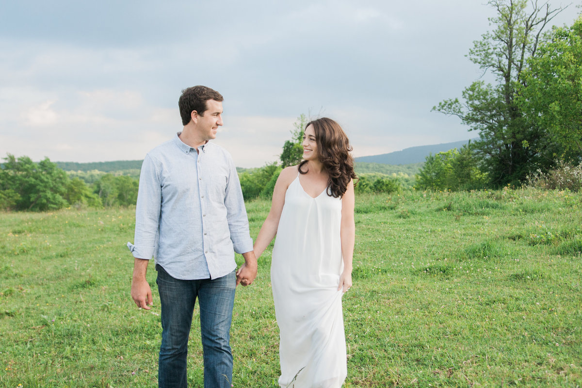 Adventurous engagement photographed at Tanawha Trail by Boone Photographer Wayfaring Wanderer.