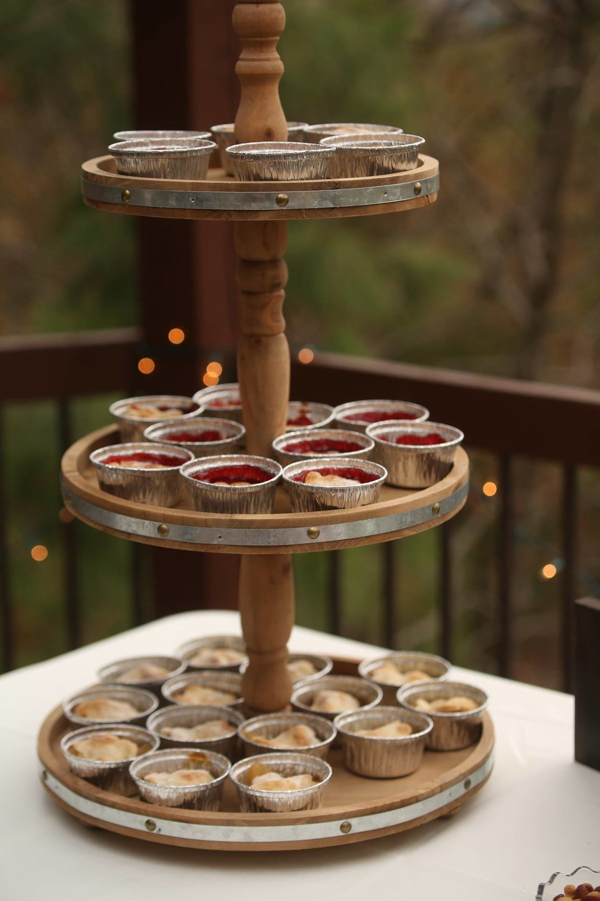 mini wedding pies / Megan Wilson Threet Photography
