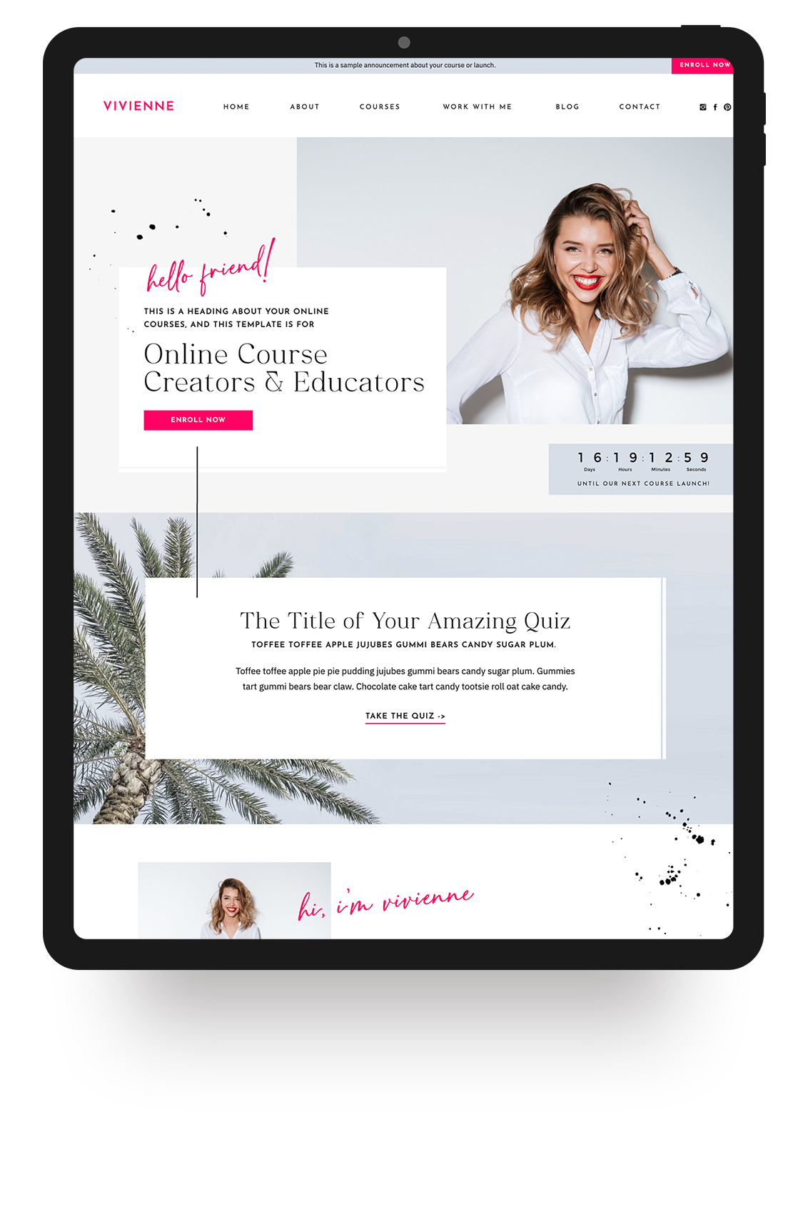 Showit Website Templates for Female Creatives | Viva la Violet
