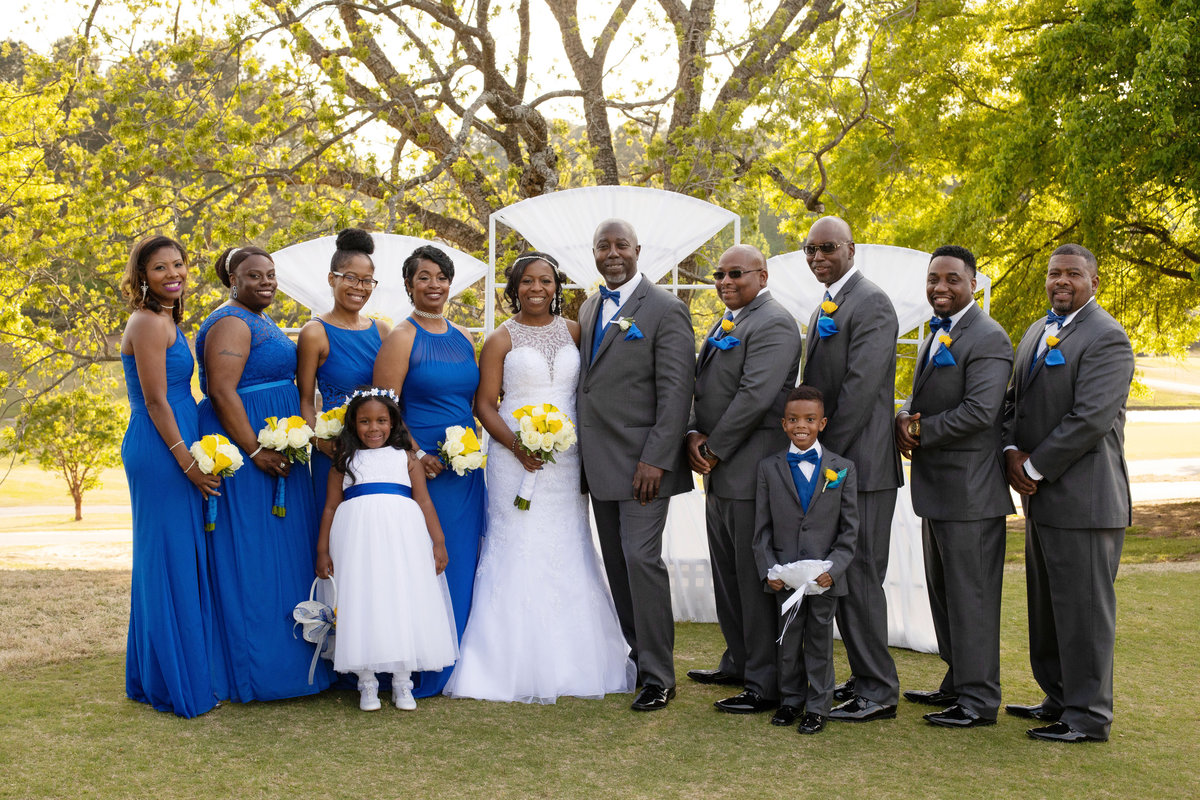 Bridal Party in  Royal Blue dresses