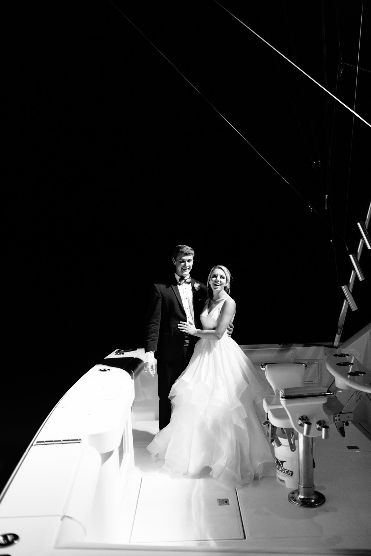Newlywed Yacht Boat Wedding Getaway in  Charleston