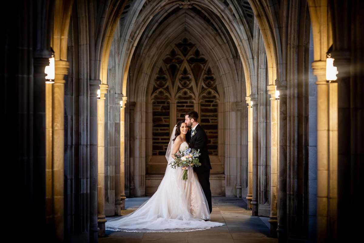 A wedding at the Duke University Chapel in Durham