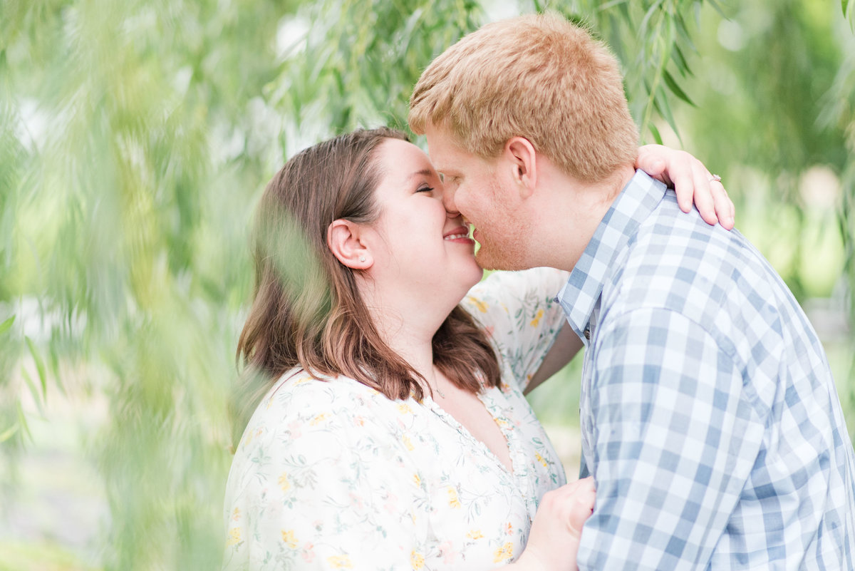 Cait Potter Creative LLC Canal Indianapolis White River State Park Spring Engagement Photos-12