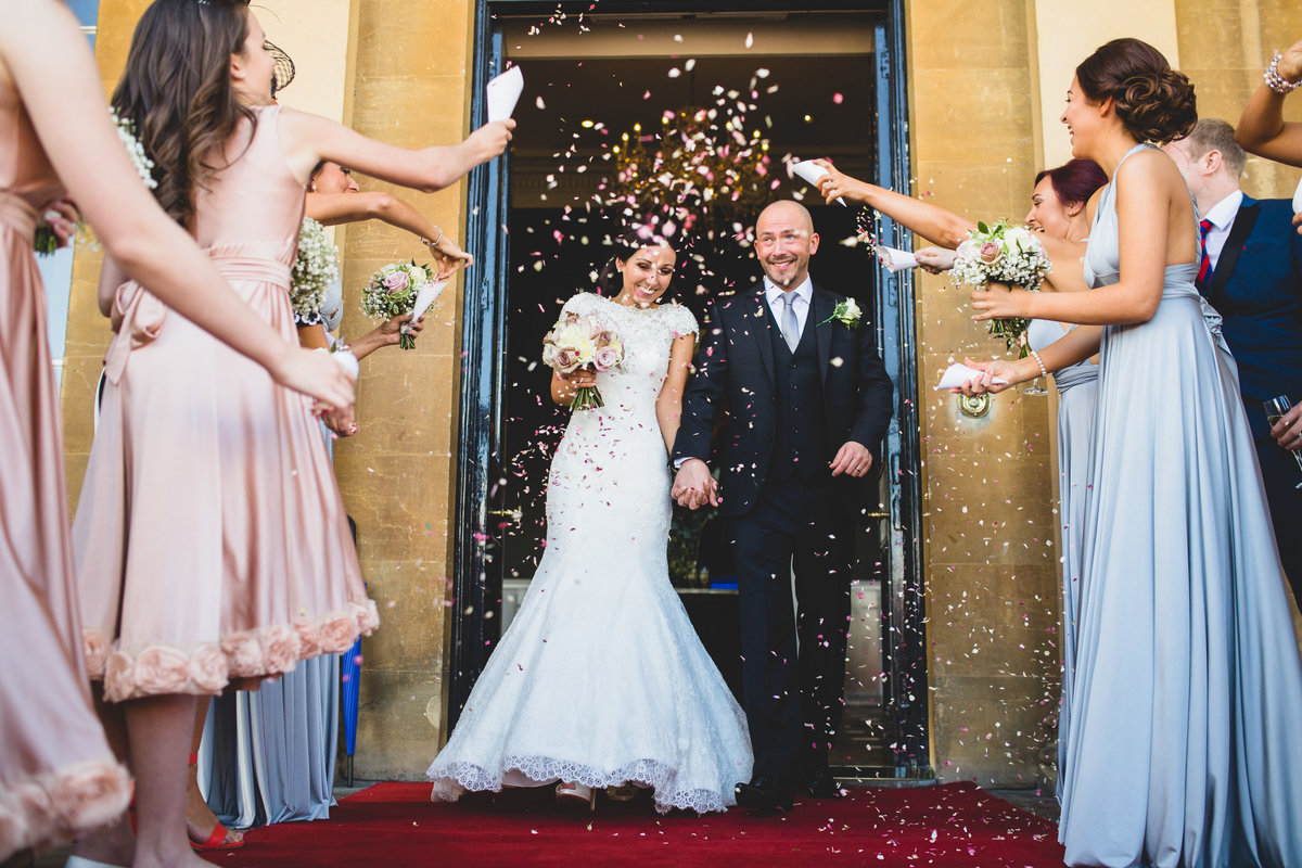 confetti at rudding park on yorkshire on the red carpet