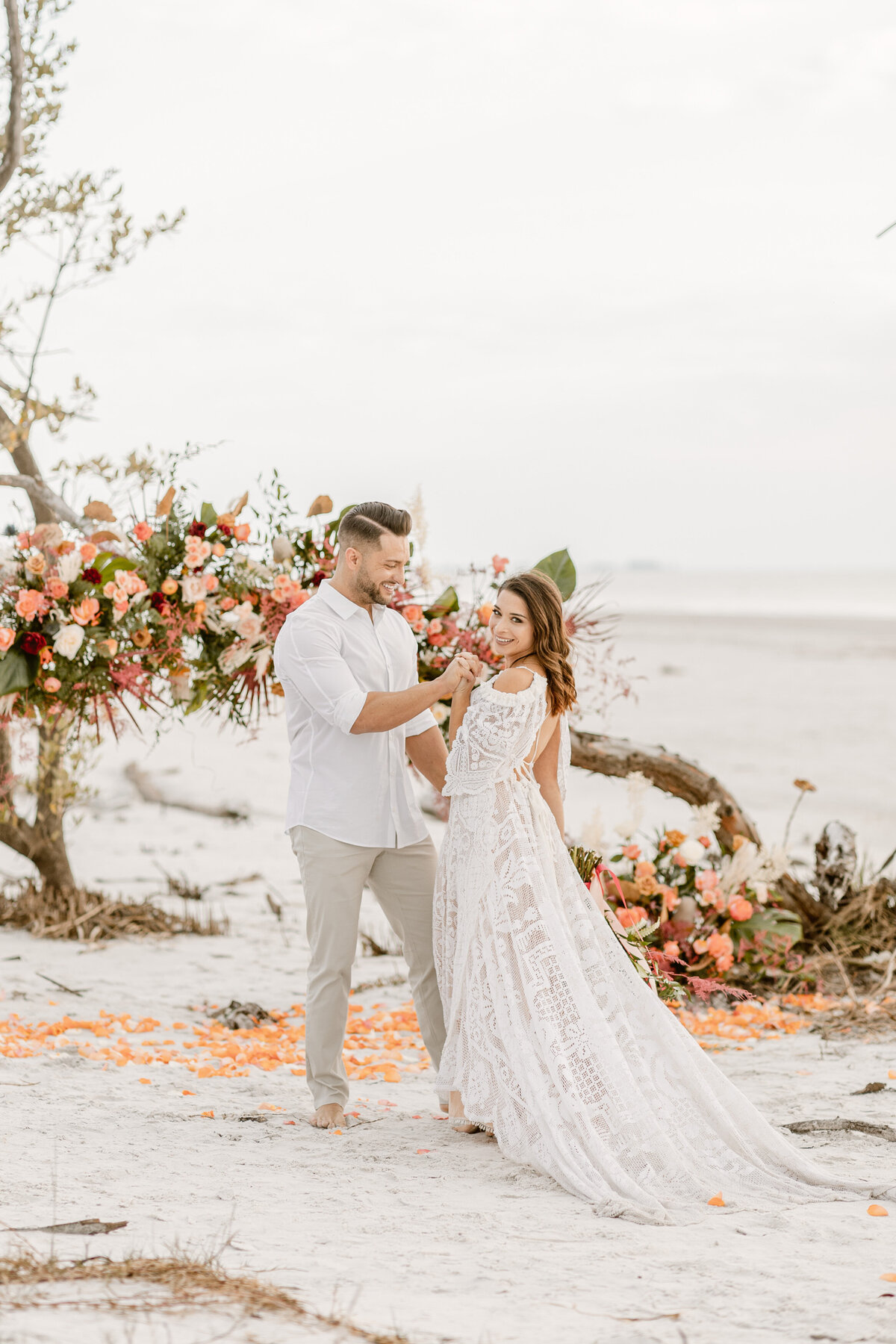 Beach Elopement in Saint Petersburg, Florida 13