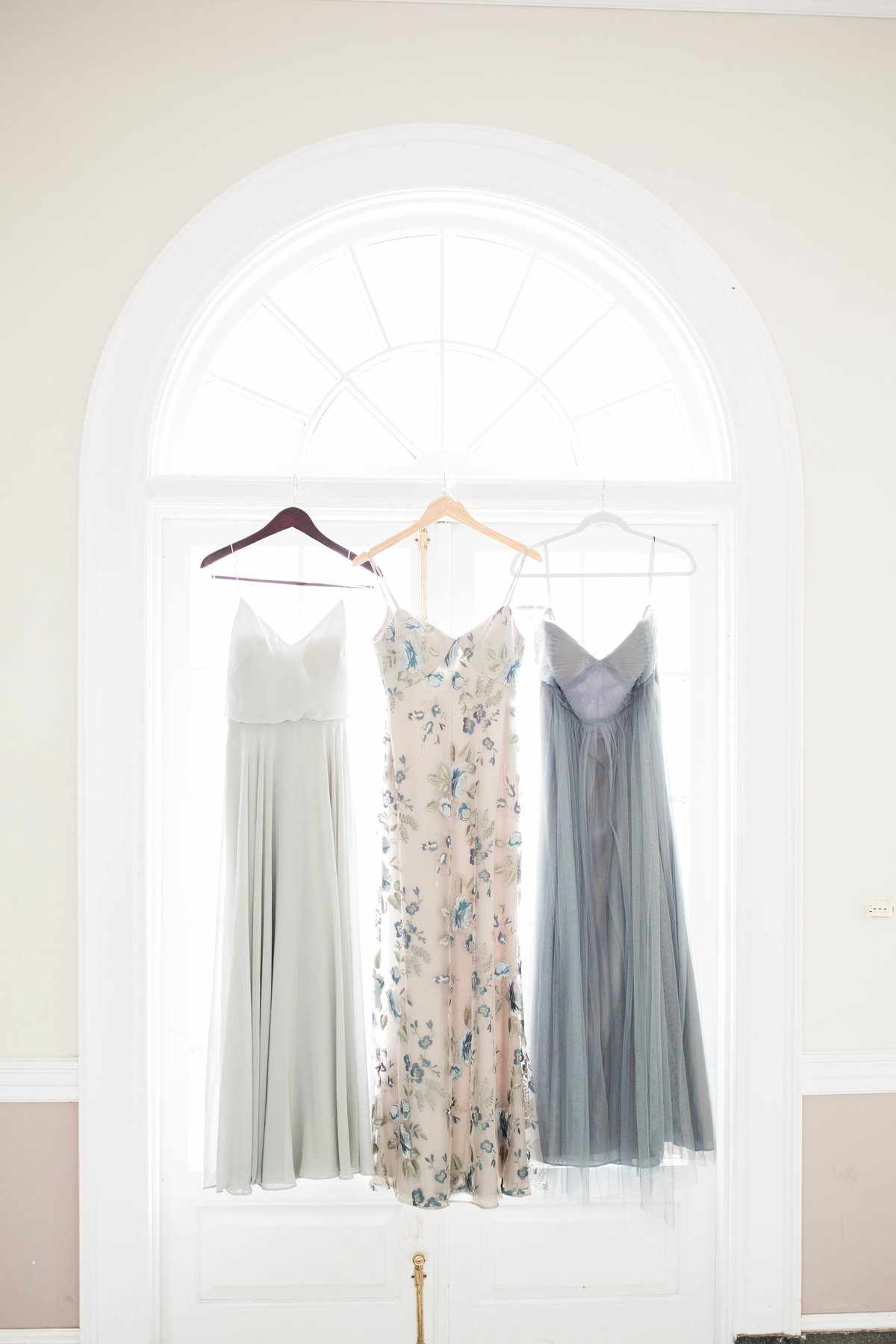 Wedding Dresses Hanging at Ribault Club Wedding Jacksonville Weddng Photographer