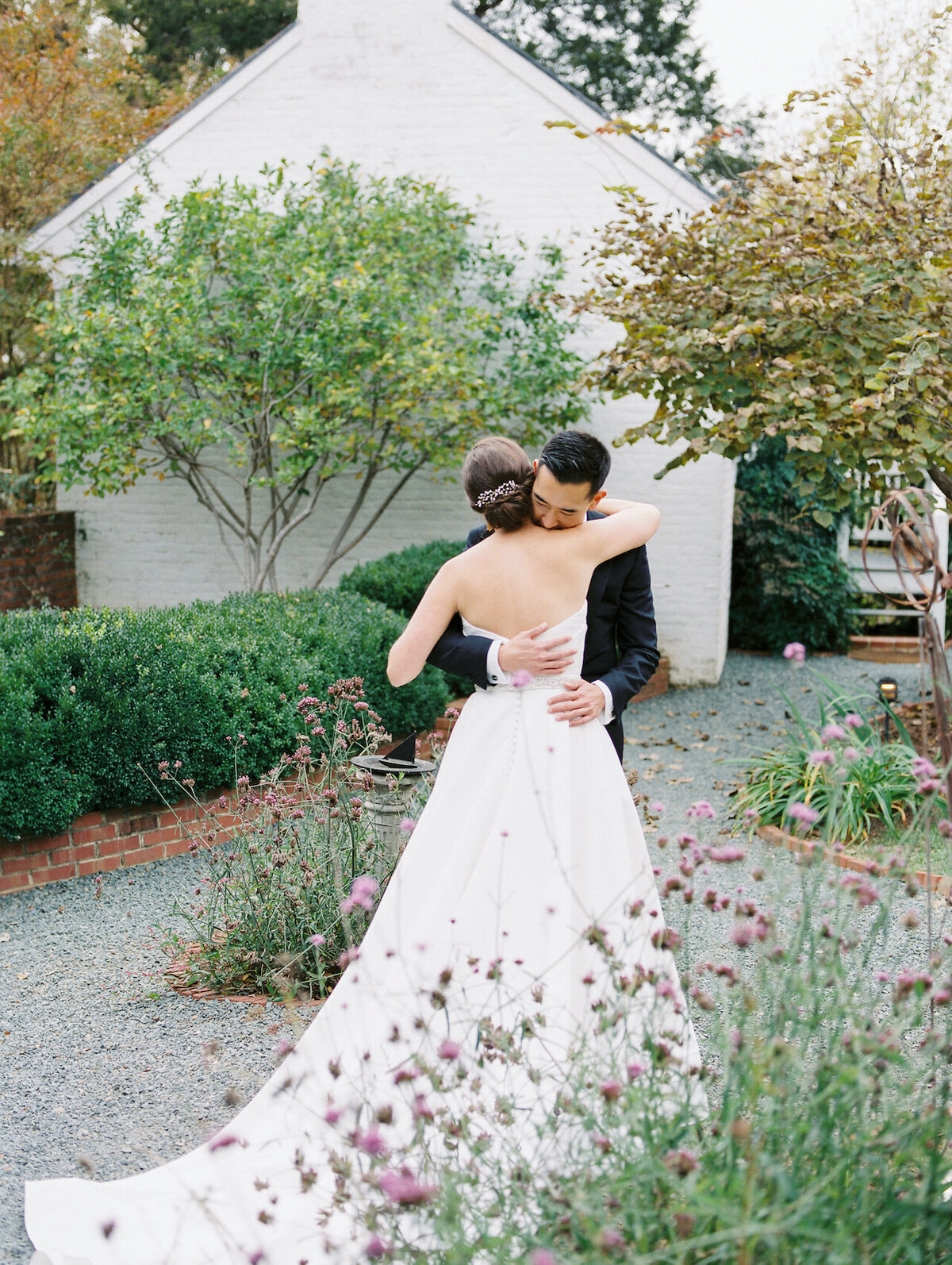First Look Maryland Wedding Photographer Robert Aveau for © Bonnie Sen Photography