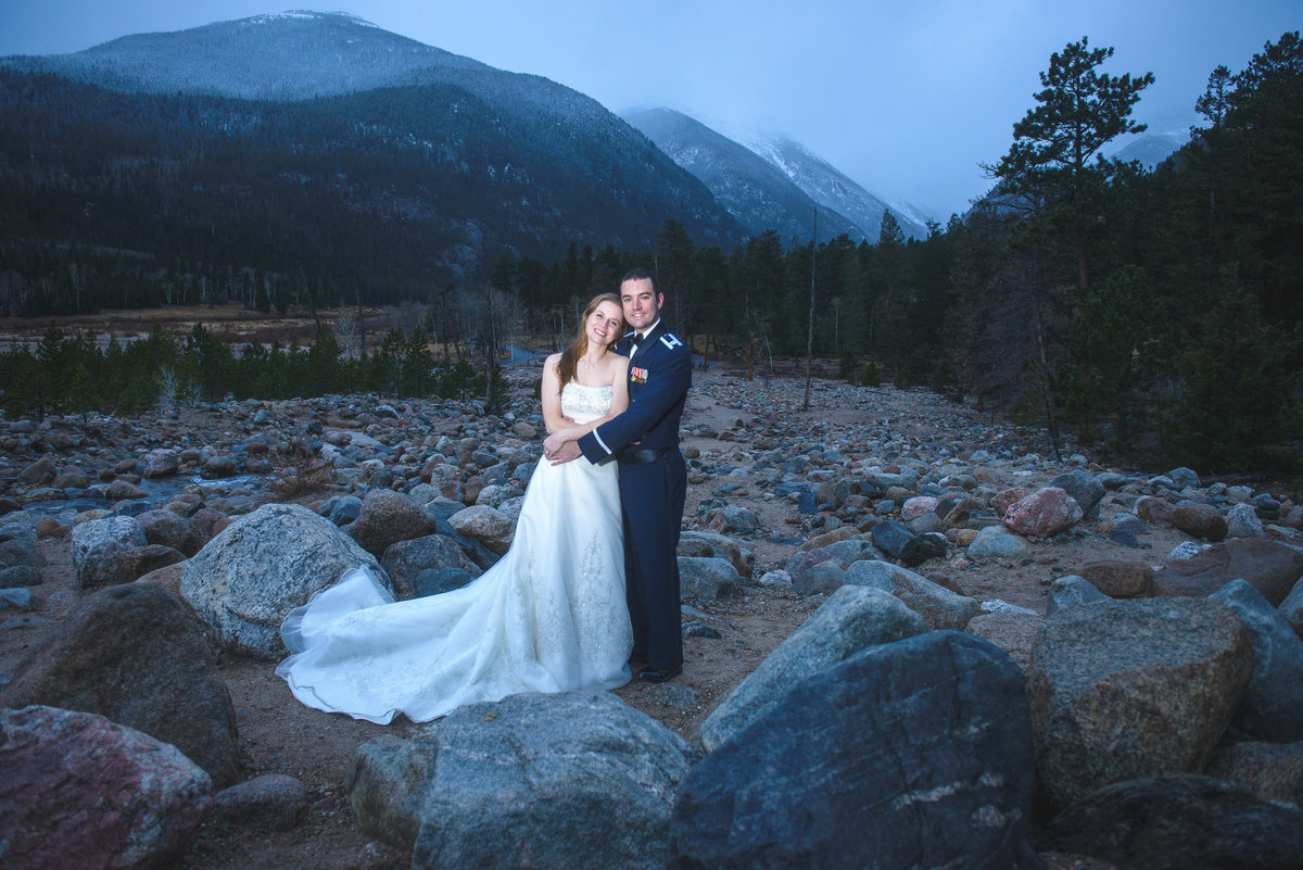 Wedding Photo at Alluvial Fan, Estes Park