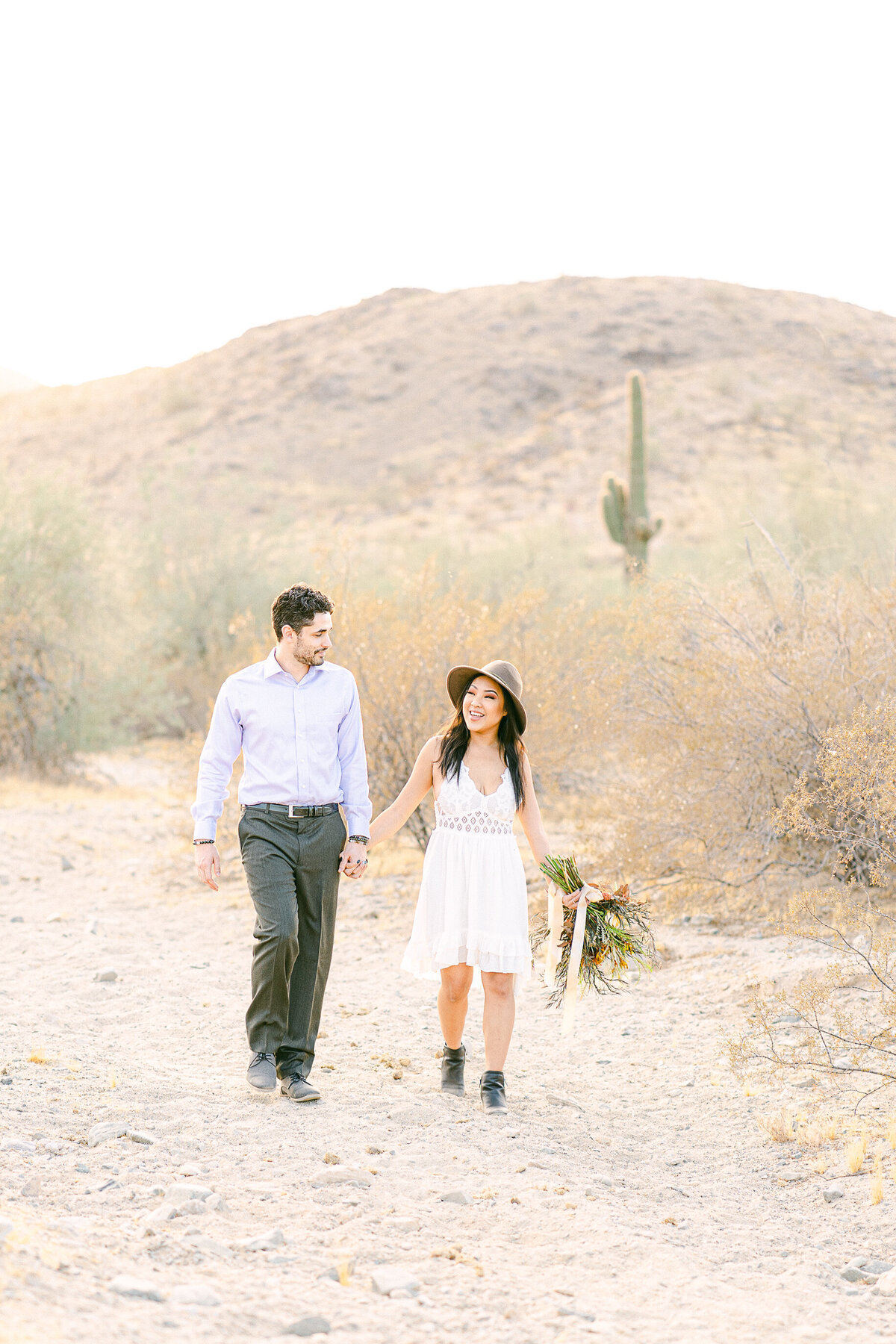 Desert Engagement Session - South Mountain Phoenix Arizona - Arizona Wedding Photographer - Atlas Rose Photography AZ01