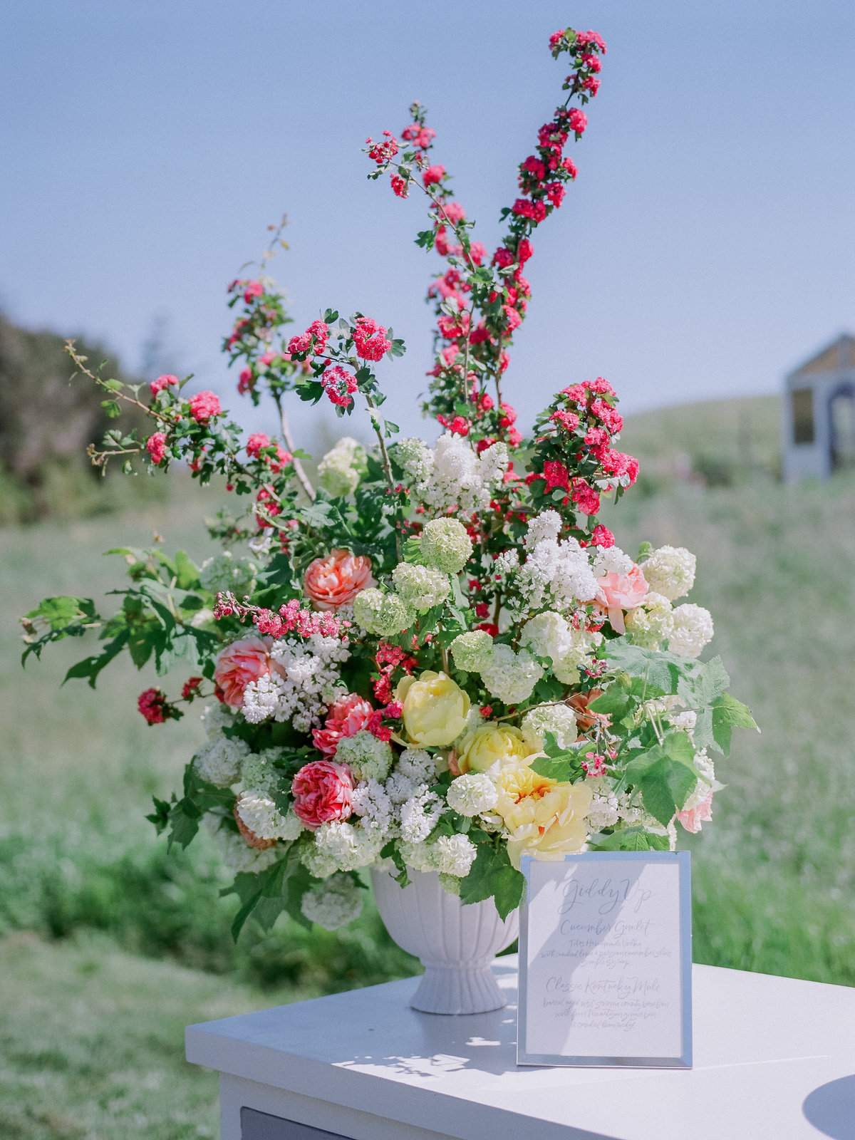 Flowers for wedding by Jenny Schneider Events at Olympia's Valley Estate in Petaluma, California. Photo by Lori Paladino Photography.