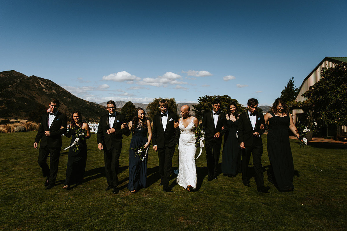 wedding party in Wanaka New Zealand