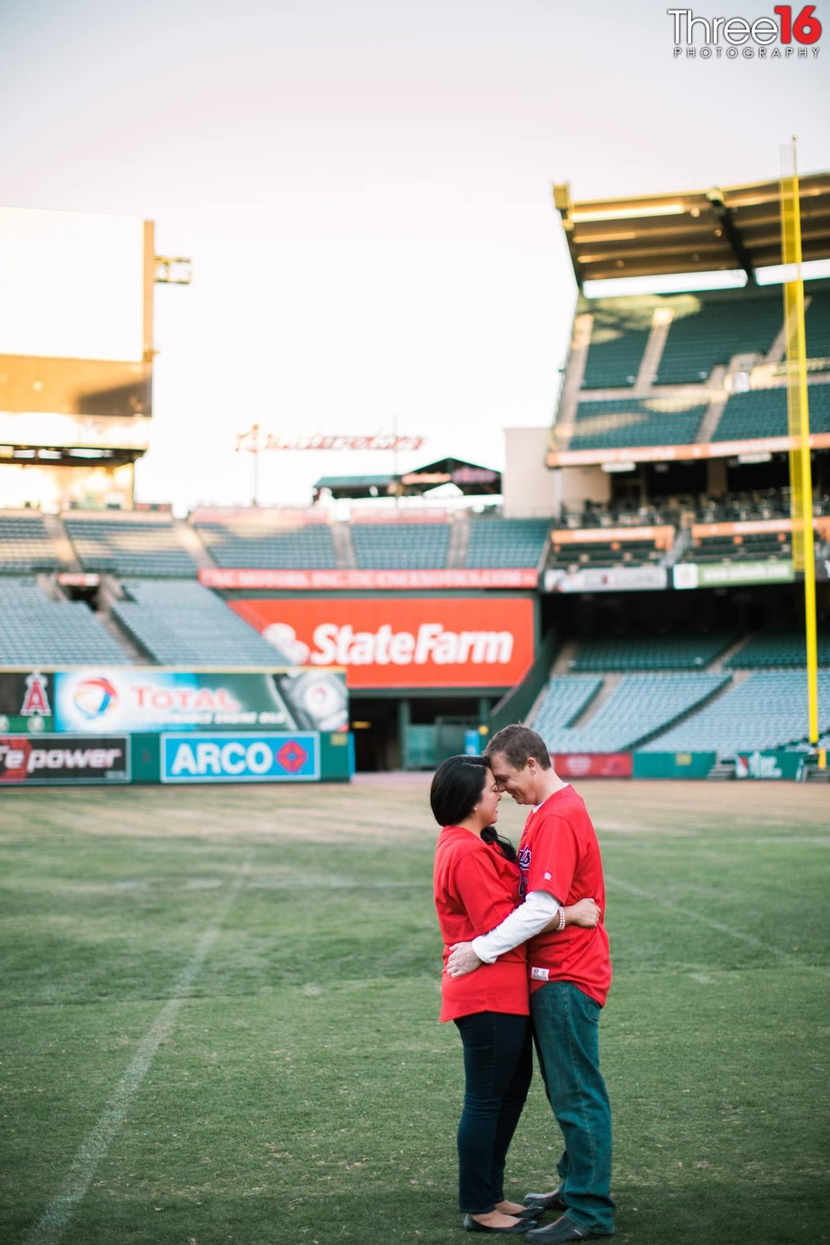 Angel Stadium Engagement Photos Orange