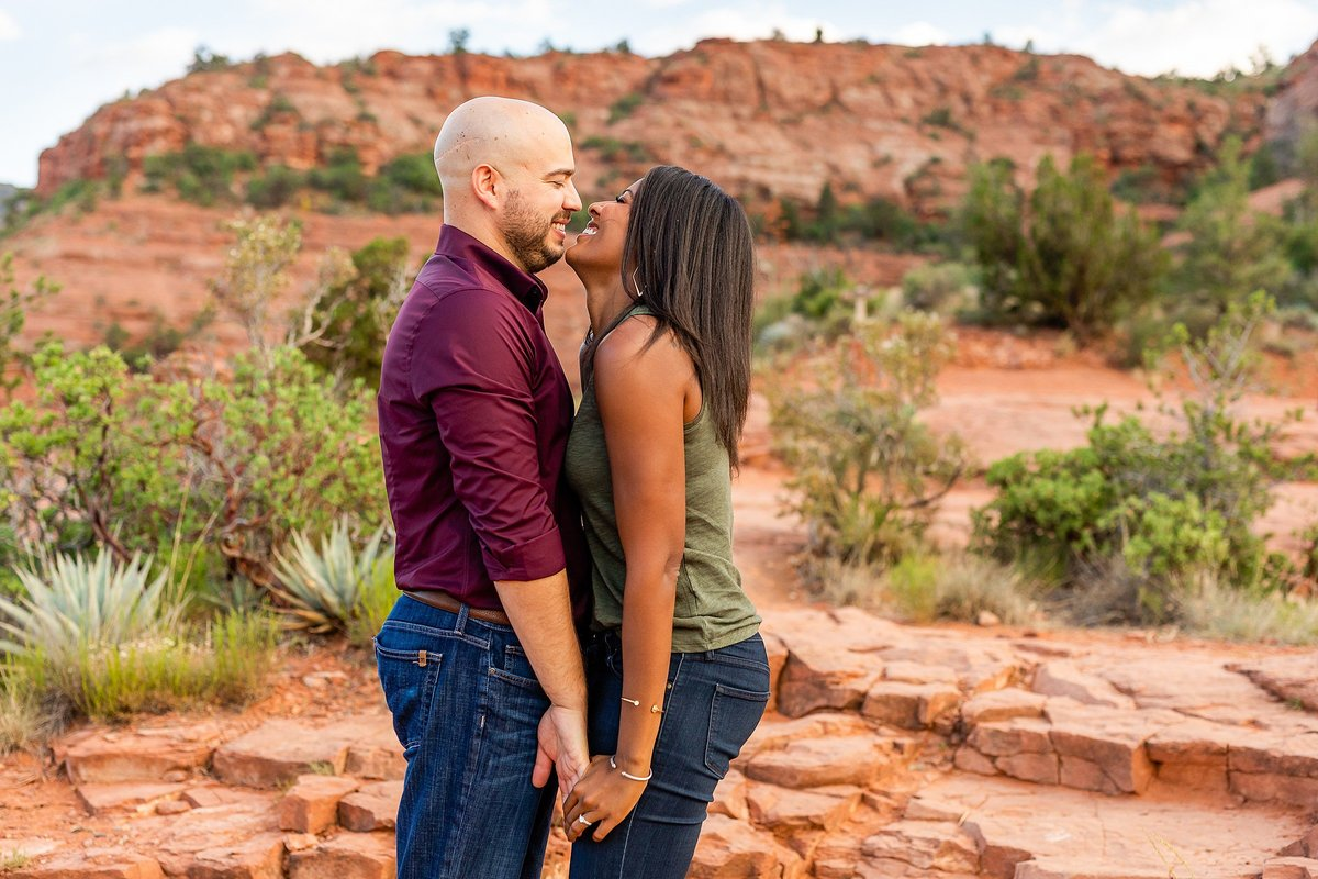 Monica + Austin - Sedona Engagement Session - Cathedral Rock - Lunabear Studios_0187