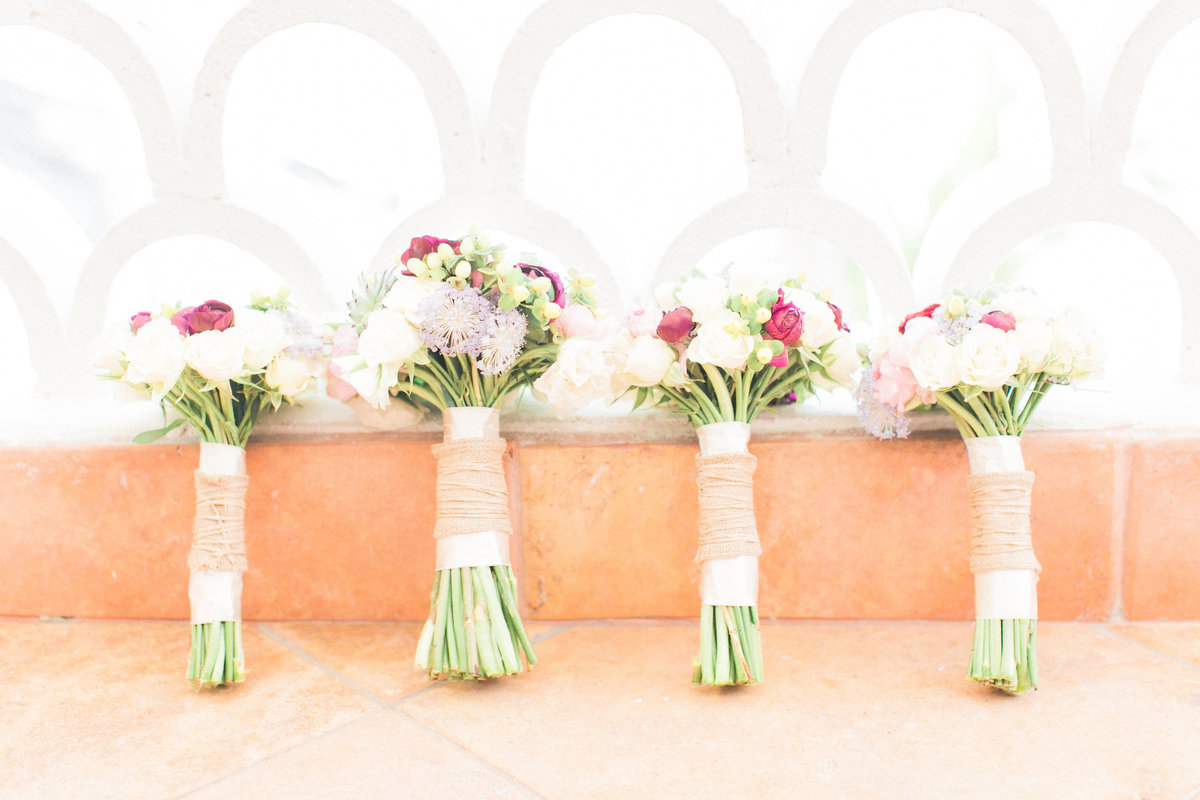 Blush Pink White Bridal Bouquets