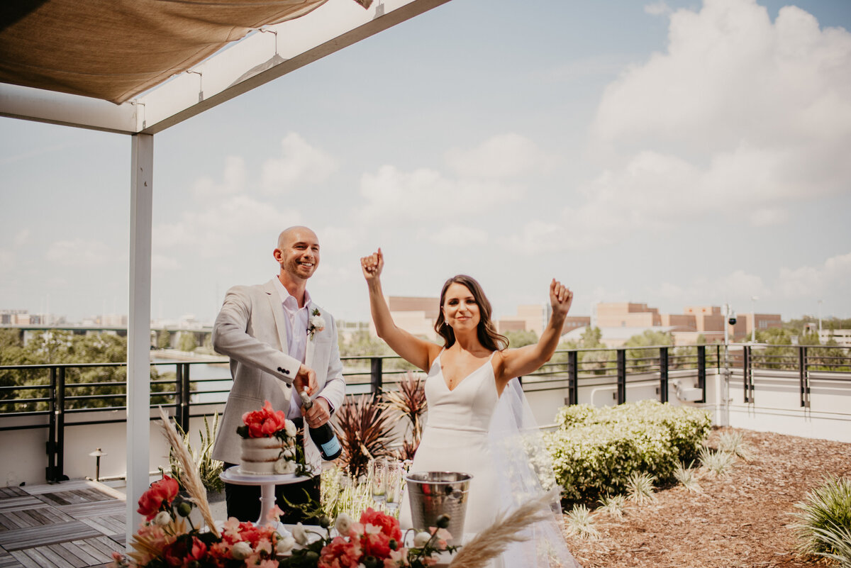 tampa bay florida elopement weddings armature works rooftop