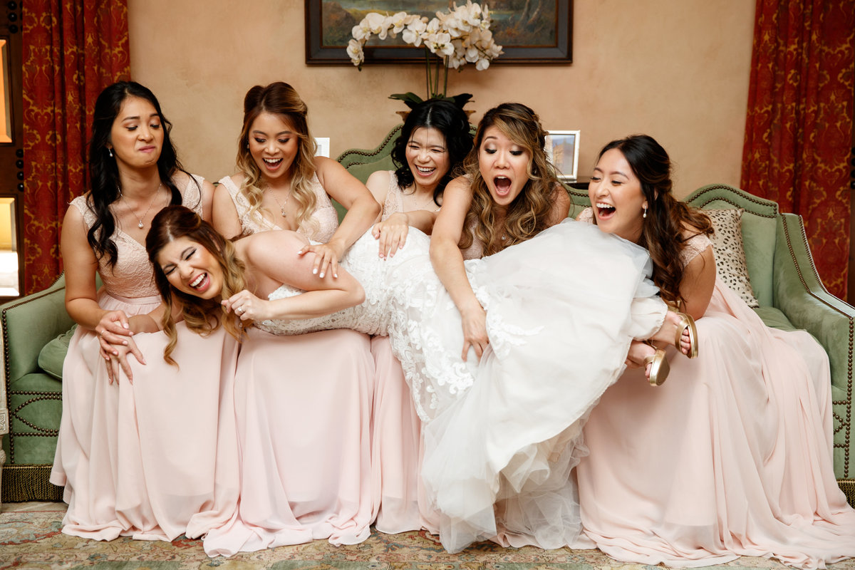 hotel granduca wedding photographer bride bridesmaids asian vietnamese  fun 320 S Capital of Texas Hwy, West Lake Hills, TX 78746