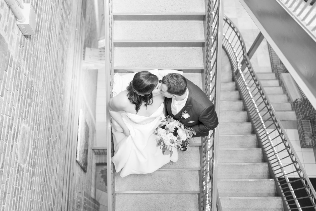 Newlywed Portraits Cait Potter Creative LLC Milltop Potters Bridge Noblesville Square Courthouse Wedding-41