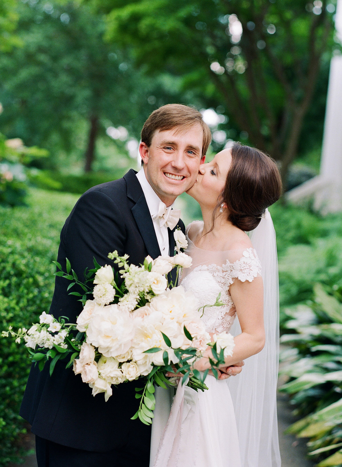 Bride and Groom Portraits on UGA North Campus