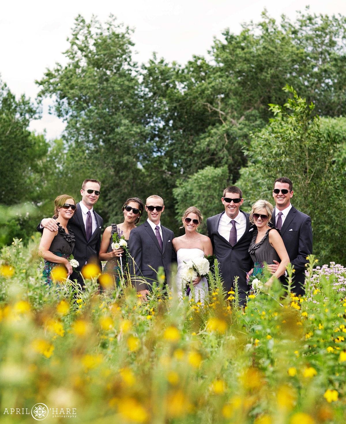 Fun Wedding Party Photography in Denver Colorado Chatfield Farms